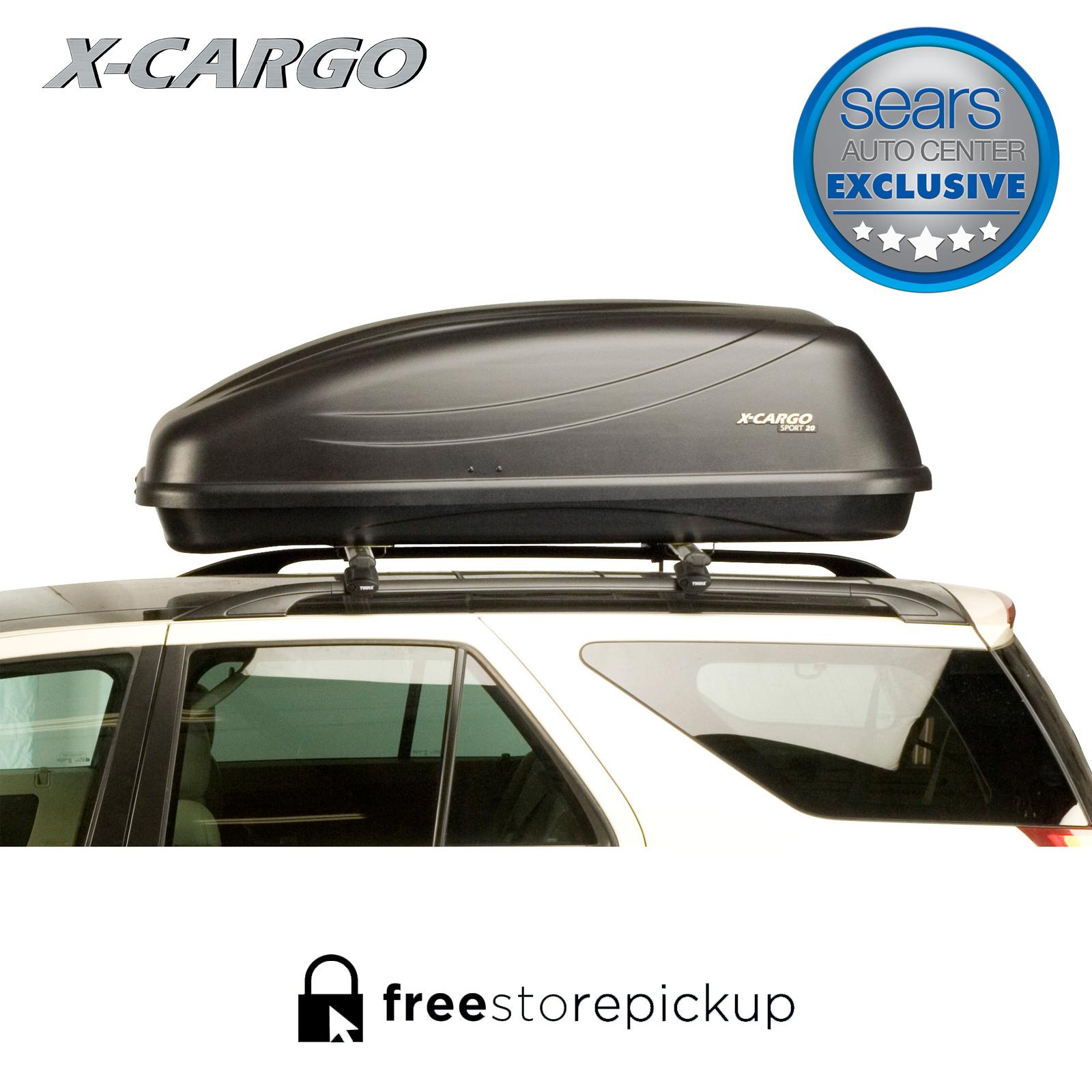 X Cargo Sport Black 90035P 20 Cu Ft Car Top Carrier