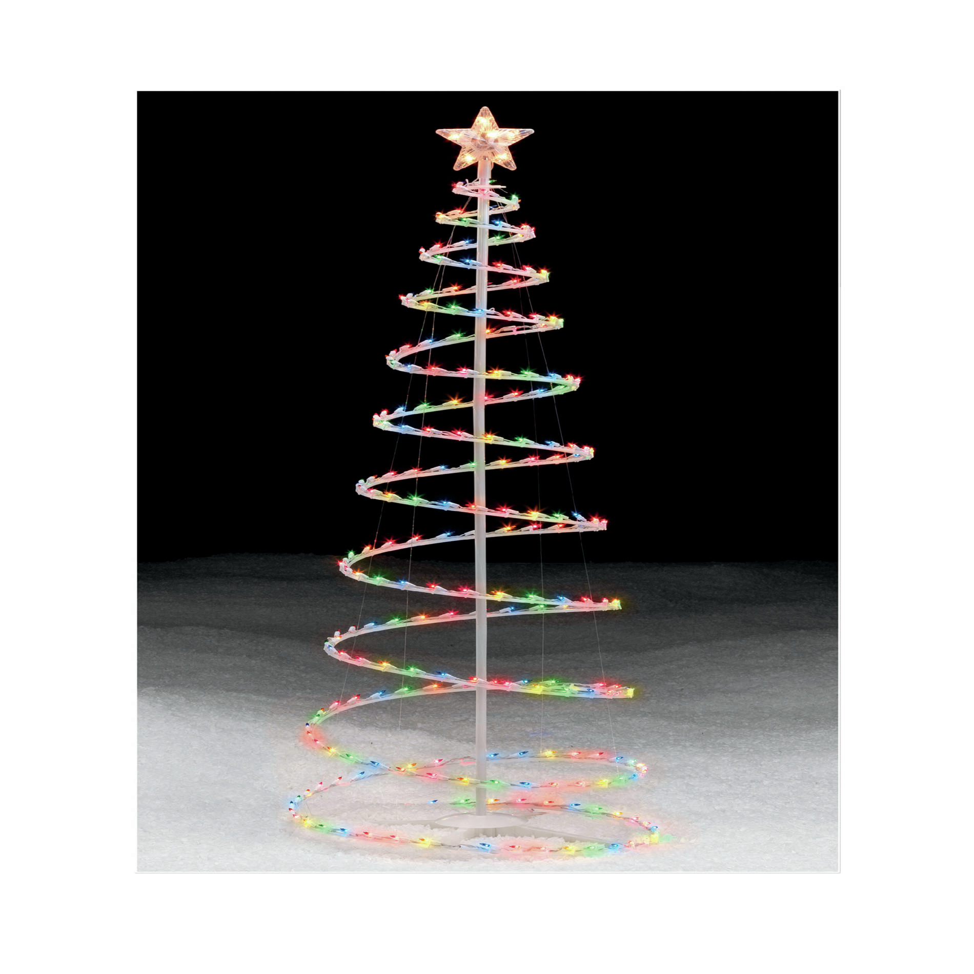 Trim A Home 6 Multicolor Lighted Spiral Christmas Tree