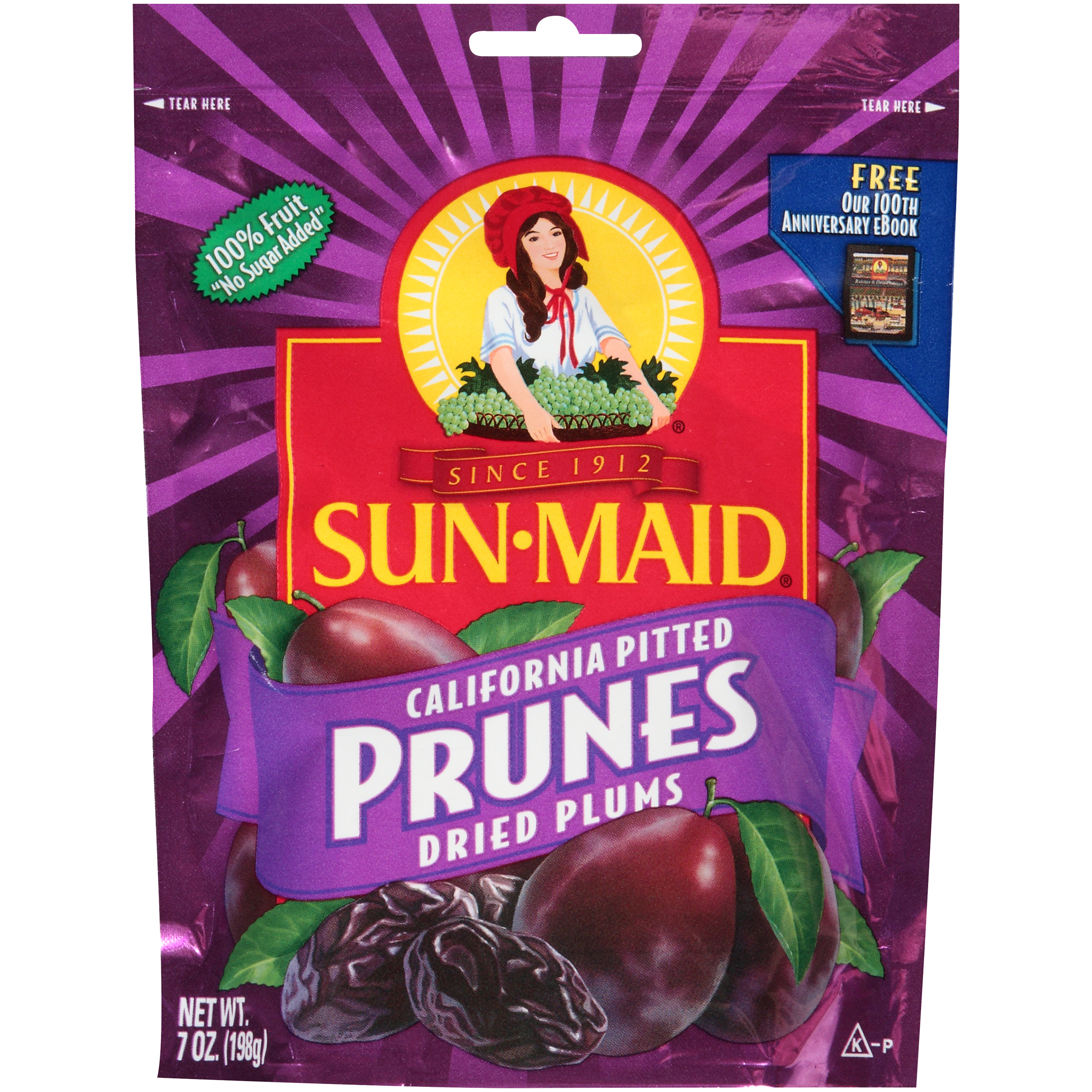 Sun Maid Pitted Prunes Dried Plums Net Wt 7 Oz 198 G