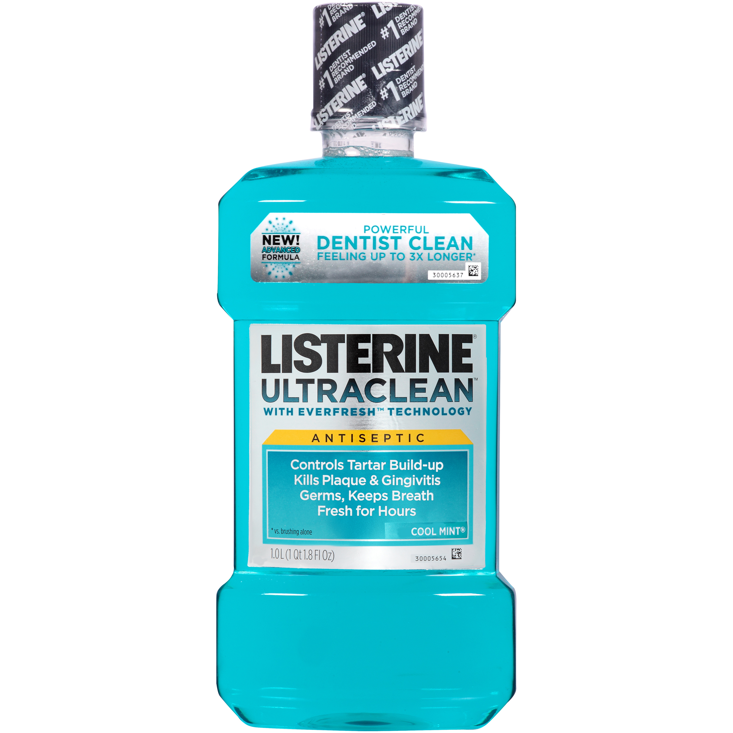 Cool Mint Ultra Clean Antiseptic Mouthwash 1 Lt