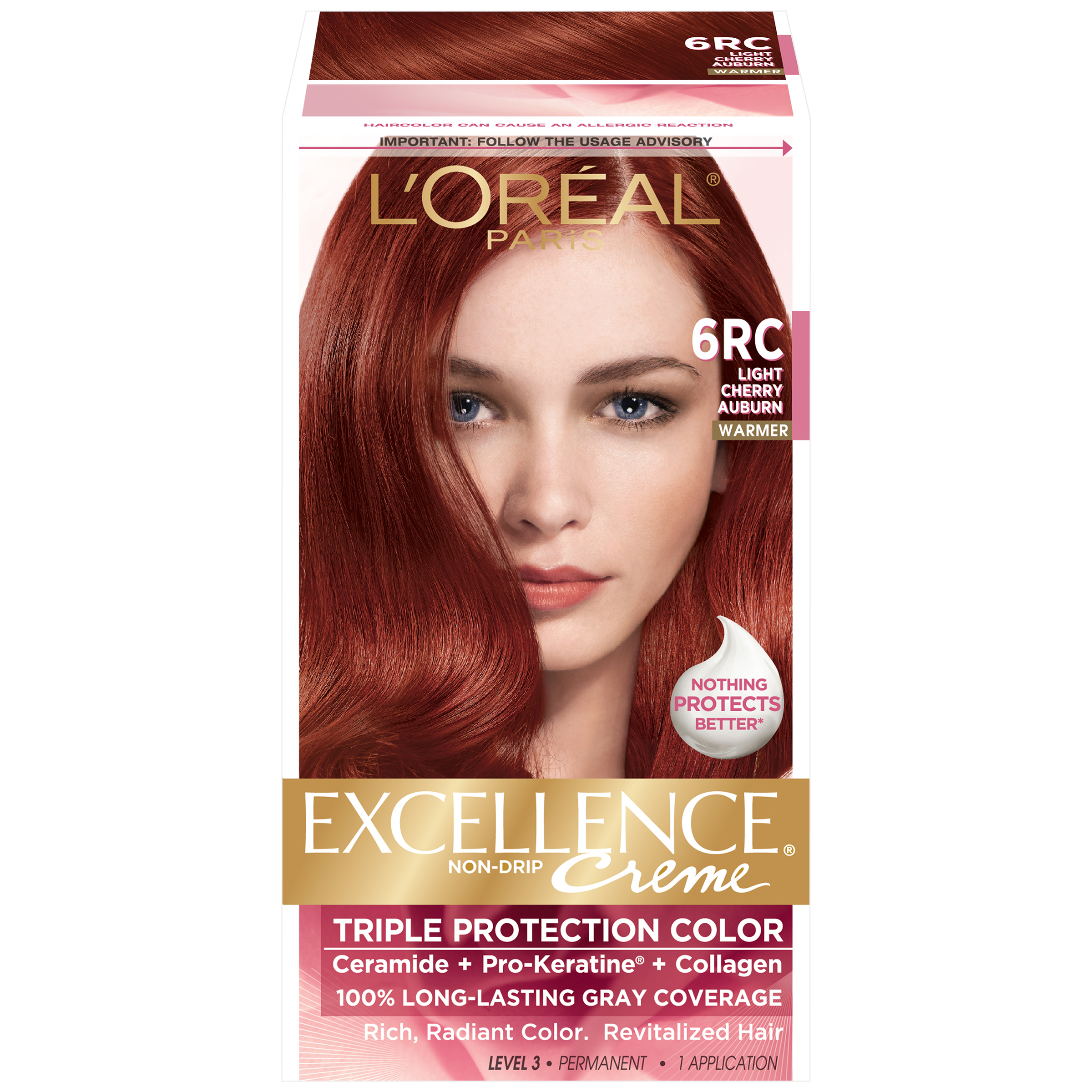LOreal 6RC Warmer Light Cherry Auburn Hair Color 1 KT BOX