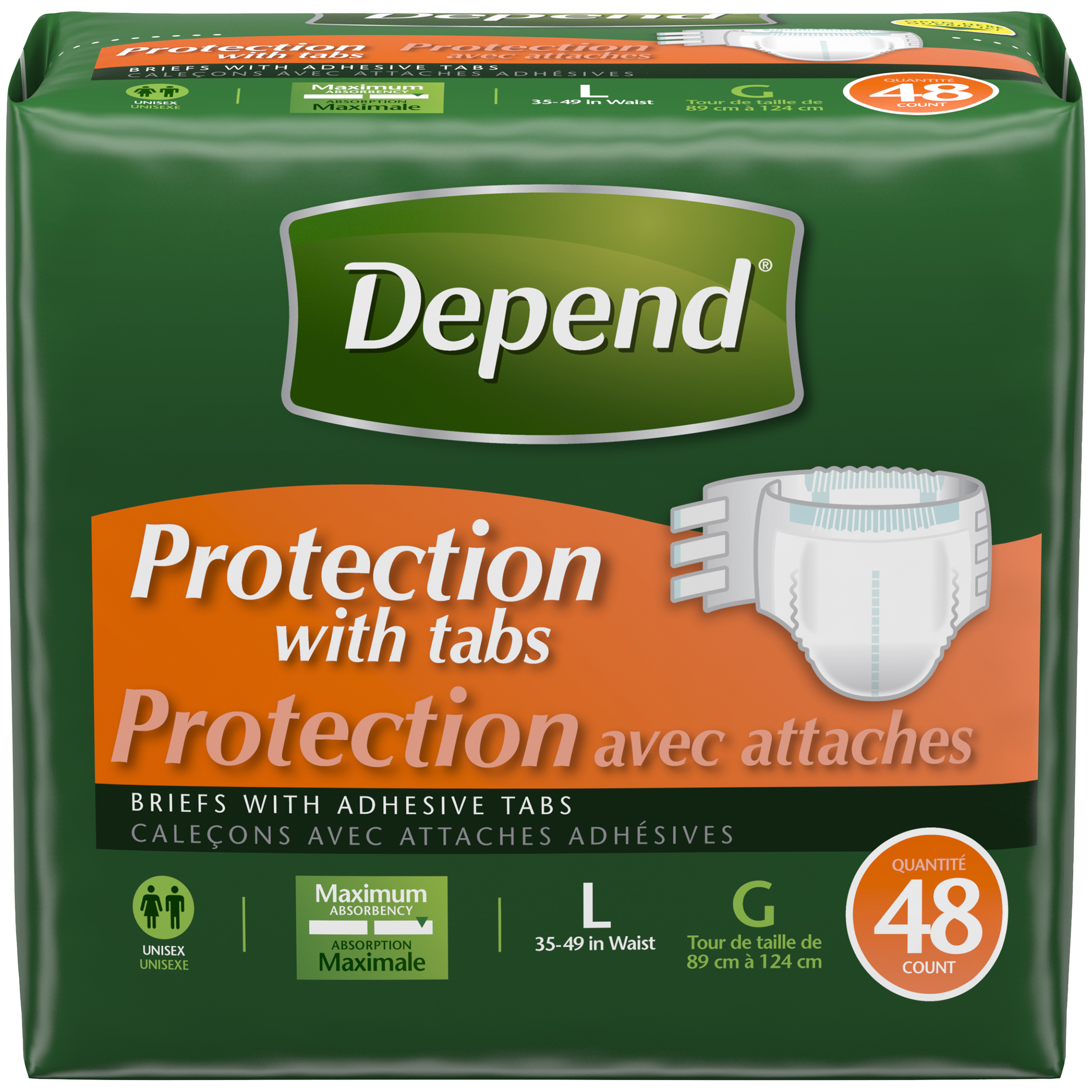 Depend Protection With Tabs Incontinence Underwear
