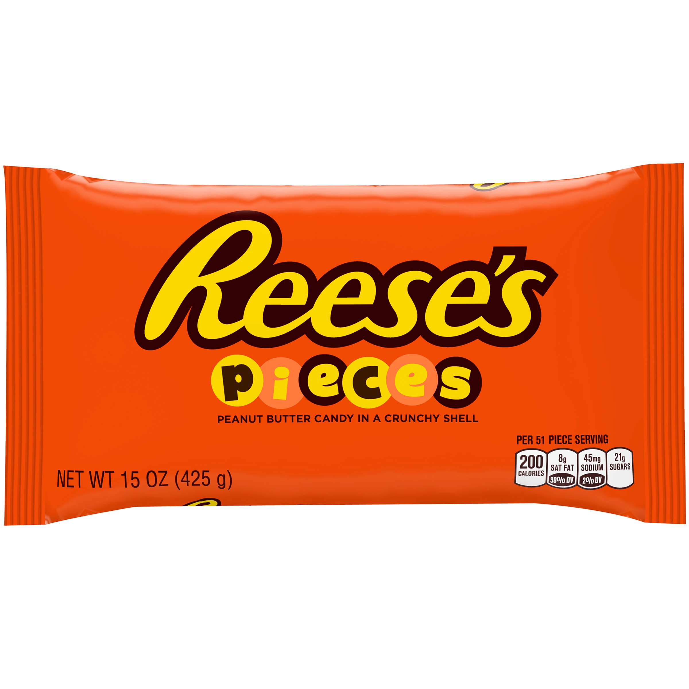 Reeses Pieces Candy Peanut Butter 15 Oz