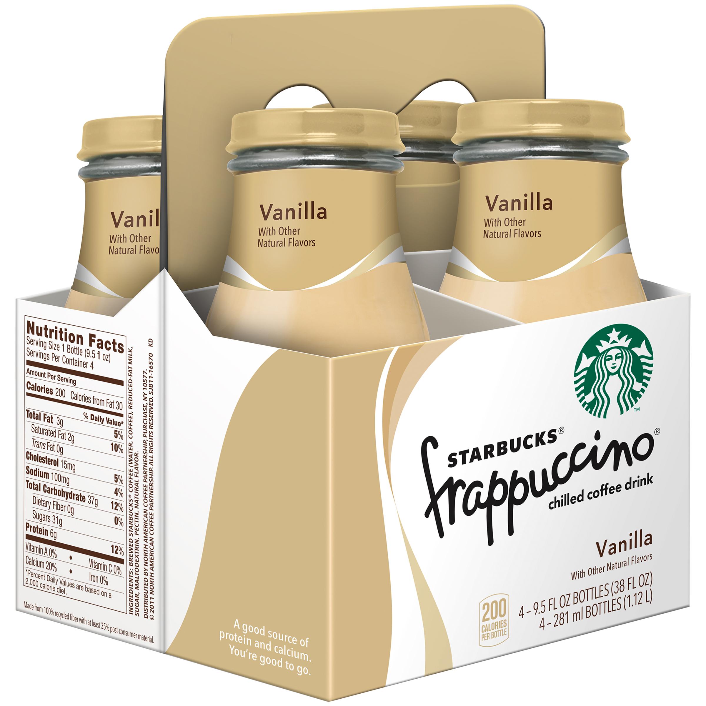 Starbucks Frappuccino Coffee Drink Vanilla 4 95 Fl Oz