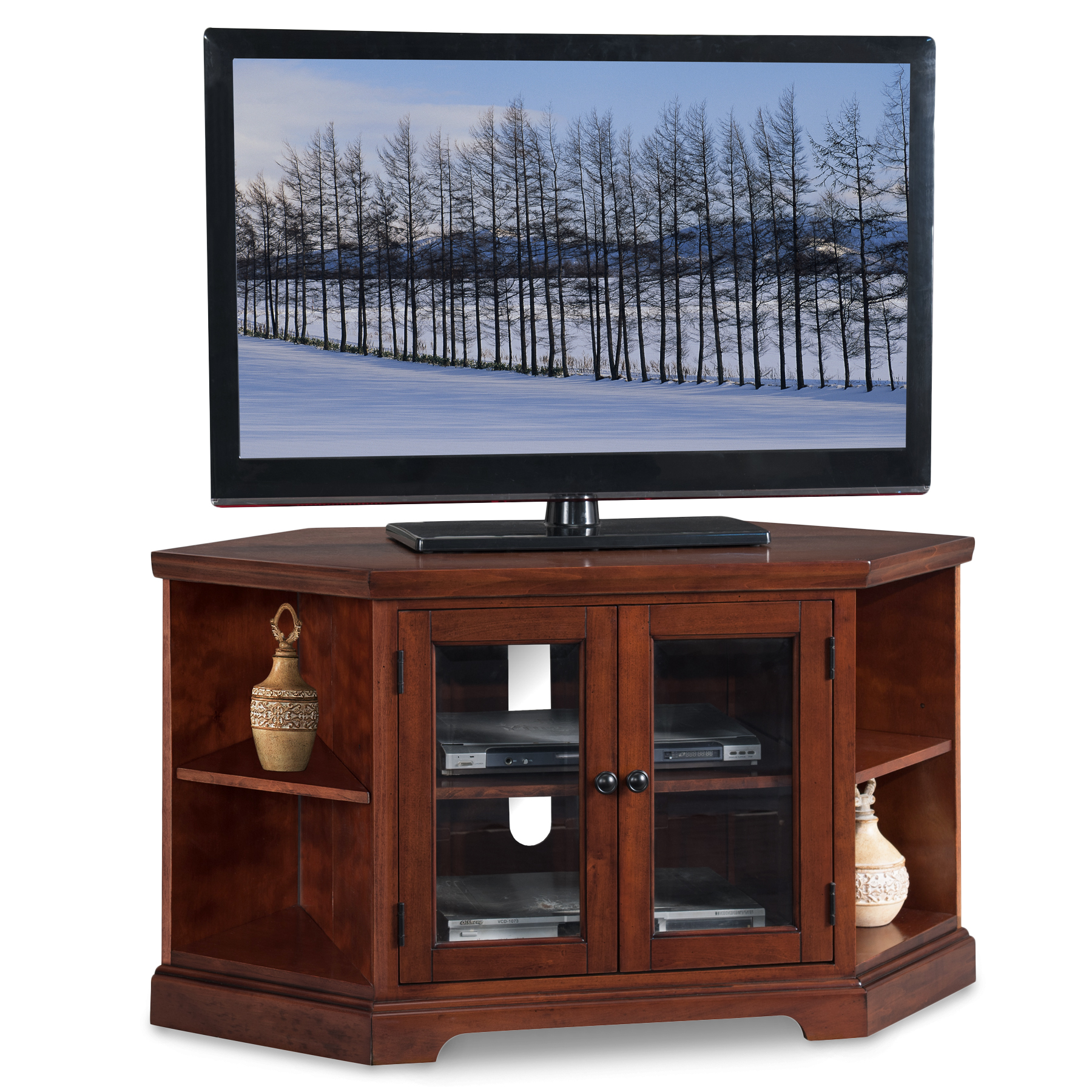 Leick Westwood 46 Corner Tv Stand With Bookcases
