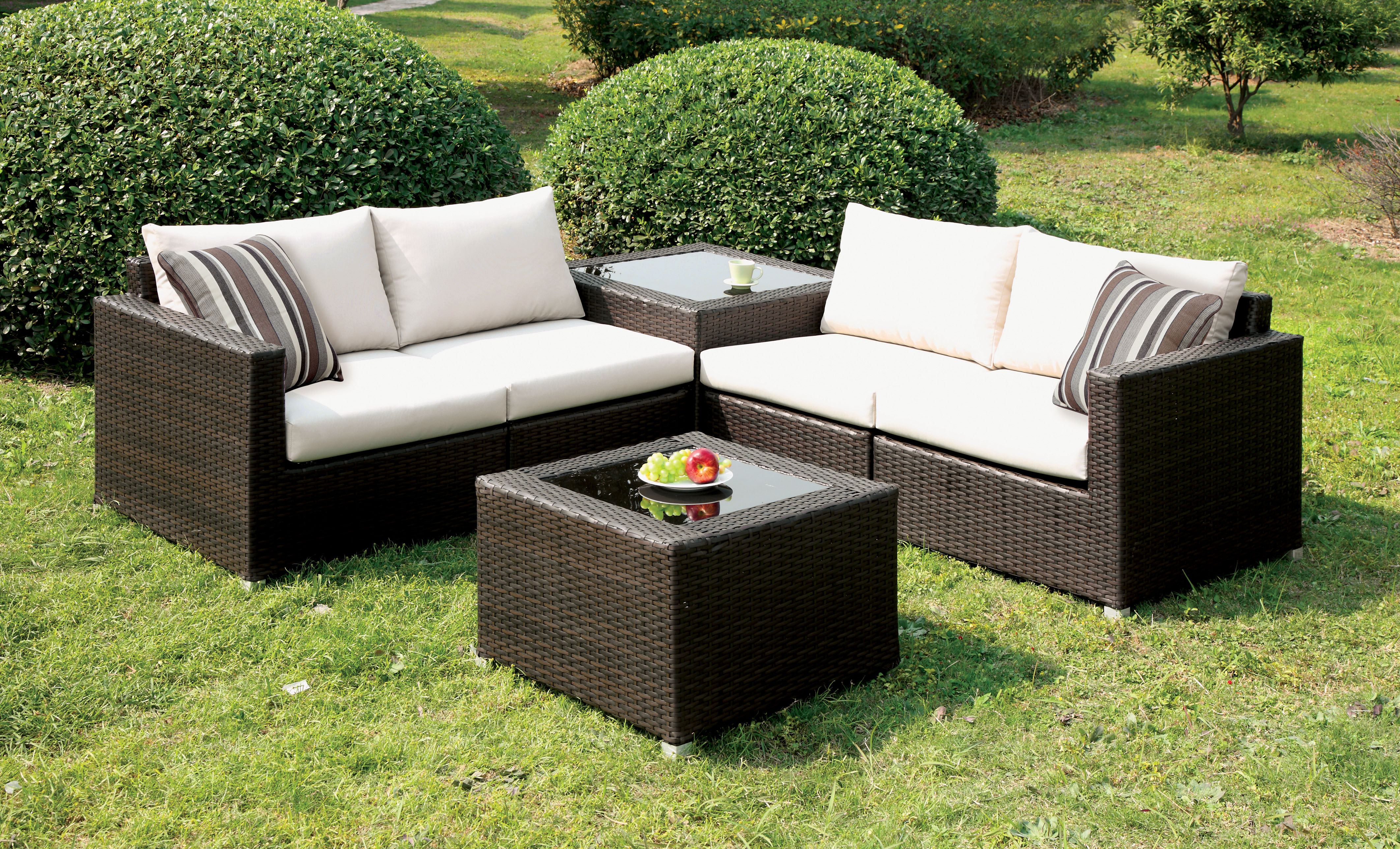 Furniture Of America Arbore 4 Piece Patio Sectional Set