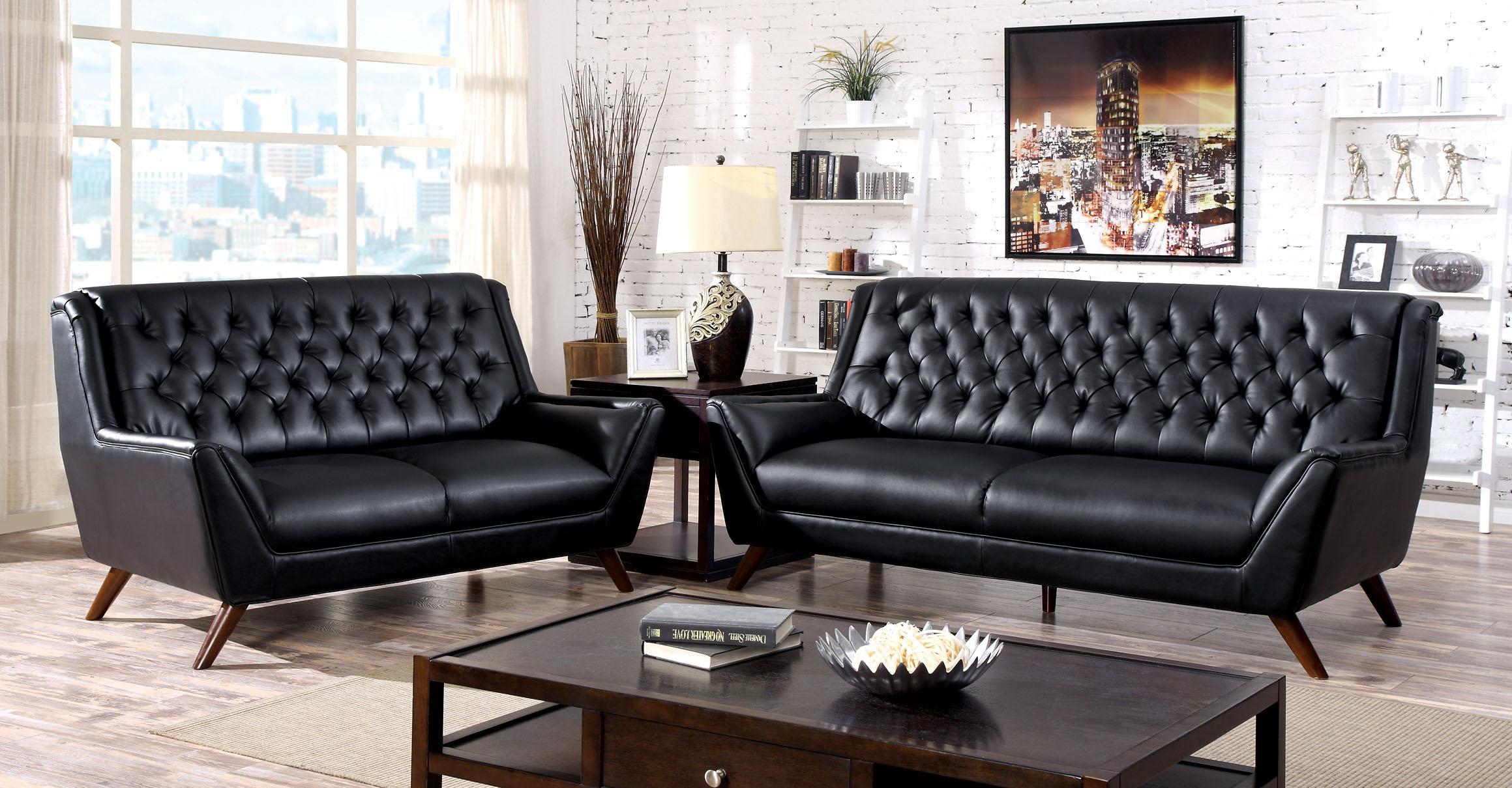Furniture Of America Wickshire Mid-Century 2-Piece Sofa Set