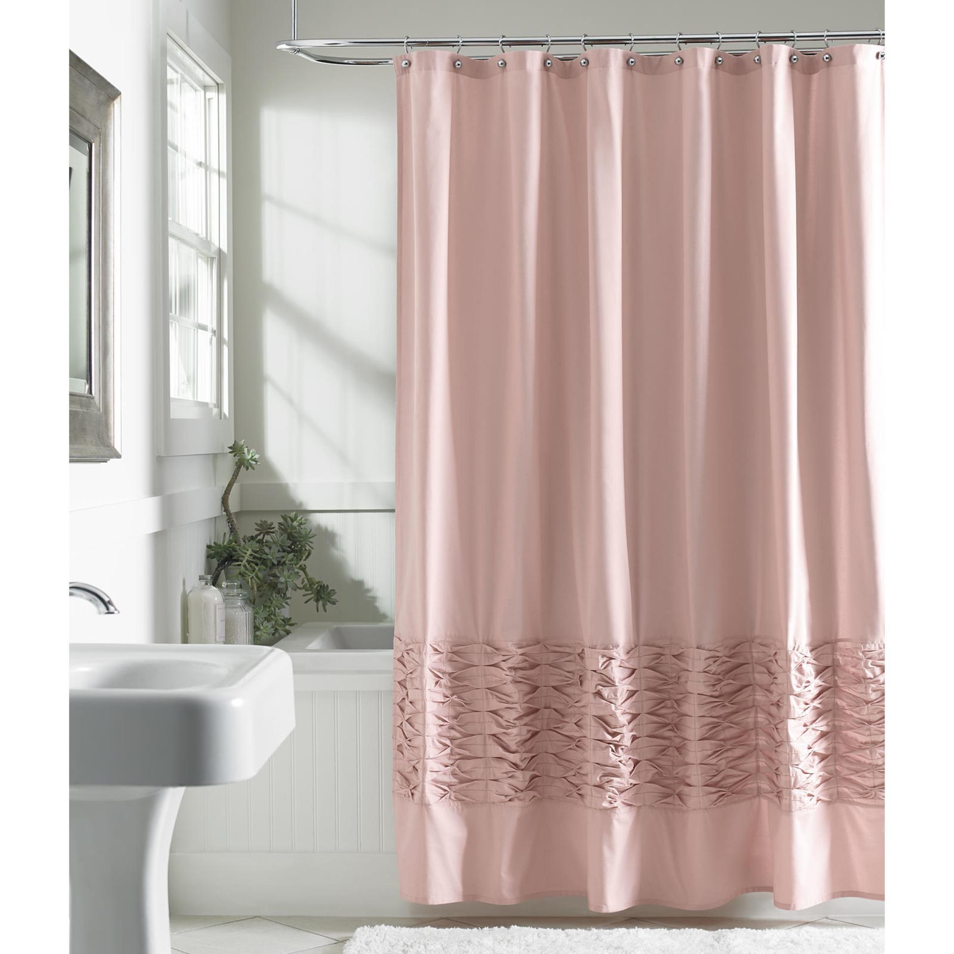 Metaphor Fabric Shower Curtain Blush