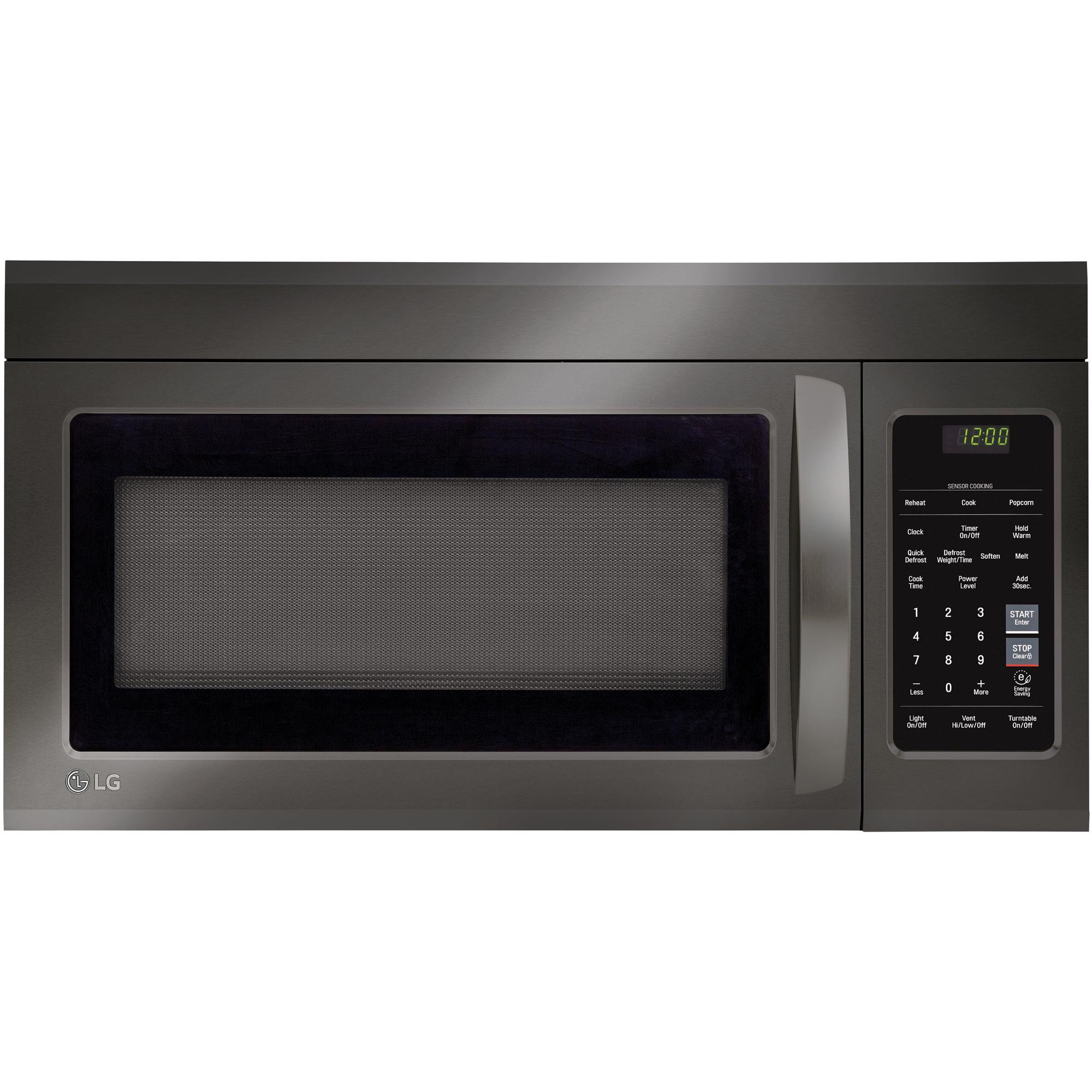 lg lmv1831bd 1 8 over the range microwave oven w easyclean black stainless