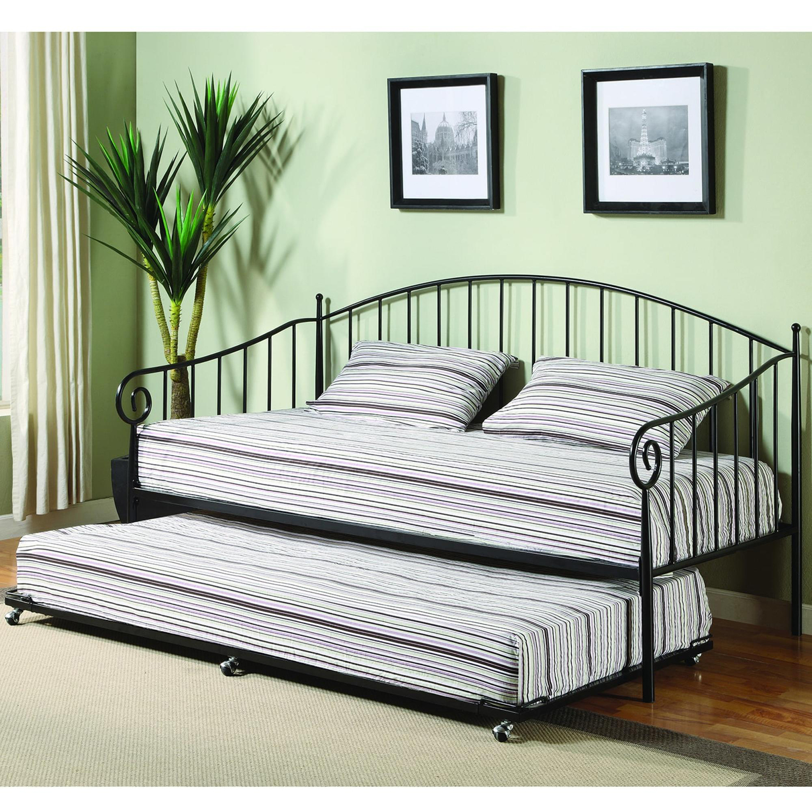 K Amp B Furniture Bt01 Metal Black Finish Daybed Sears