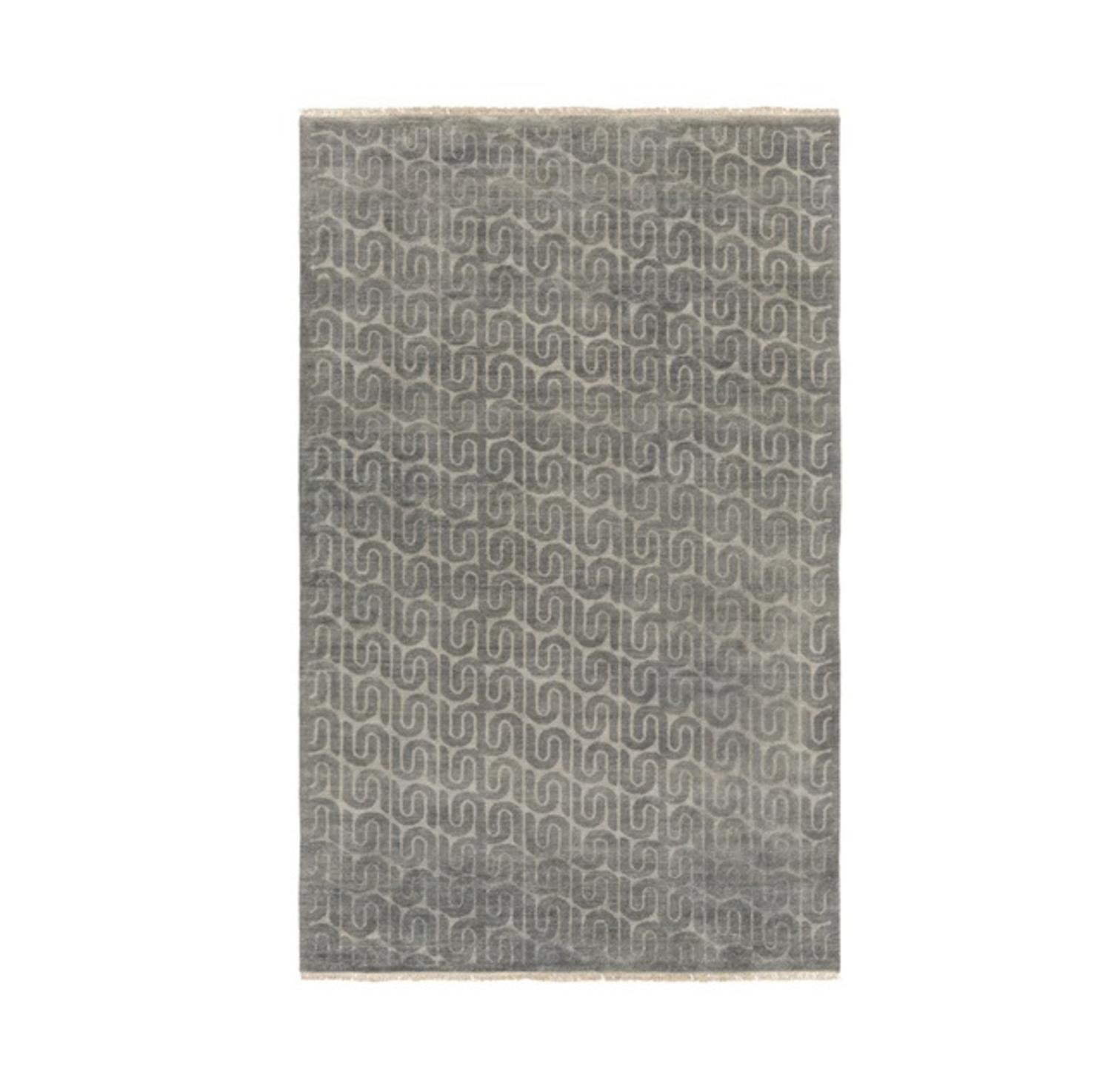 Diva At Home Diva At Home 6 X 9 Pirouette Dark Granite And Light Silver Sand Gray Hand Knotted Area Throw Rug