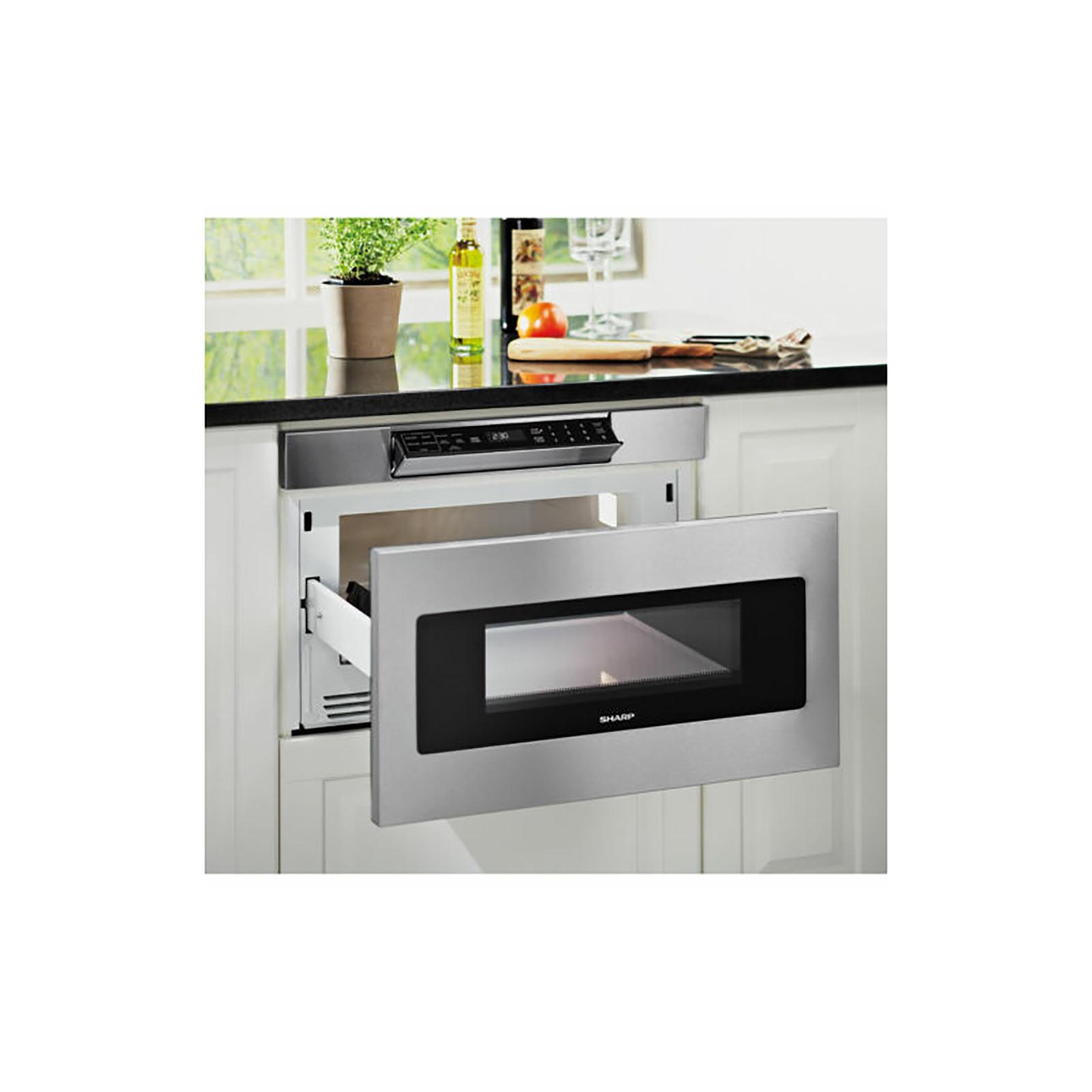 sharp 24 stainless steel microwave