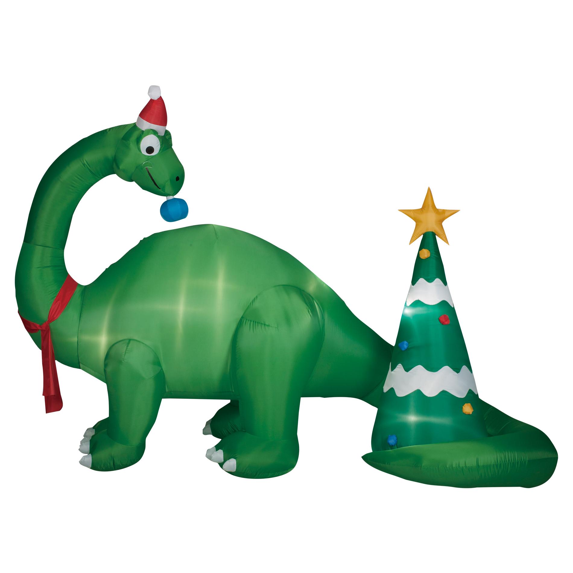 95 Foot Brontosaurus Scene Inflatable Decoration