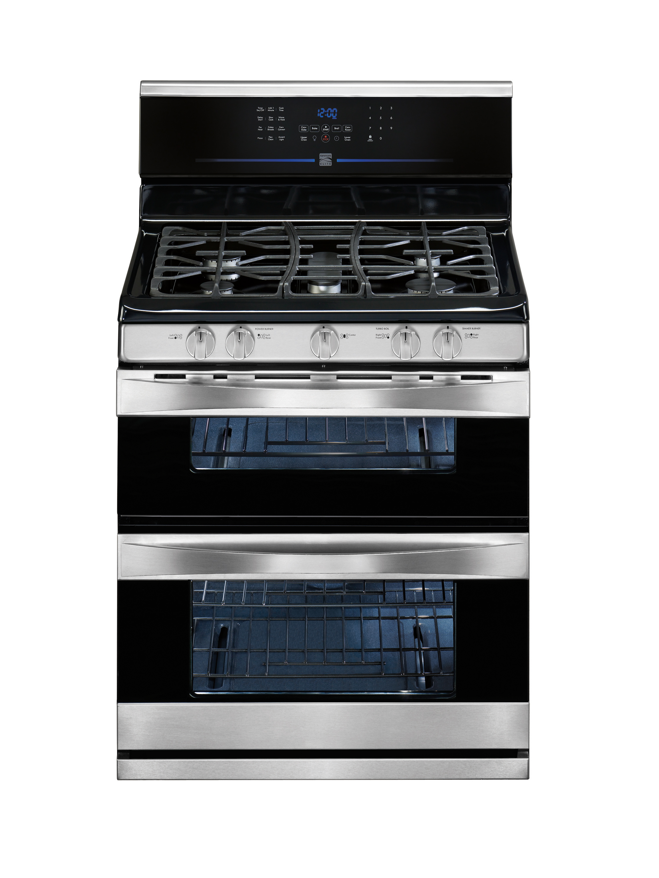 Kenmore Elite 78903 58 Cu Ft Double Oven Gas Range Sears Outlet