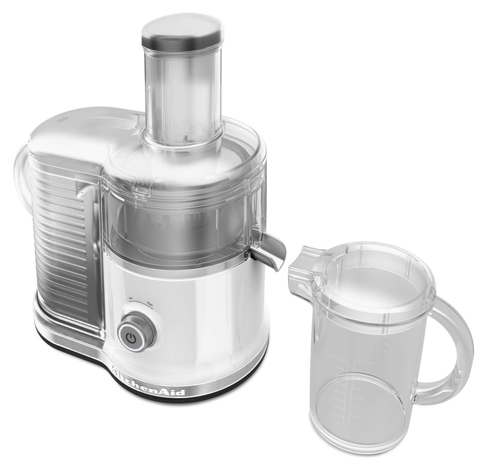 KitchenAid KVJ0333WH Easy Clean Juicer White Appliances Small Kitchen Appliances Juicers