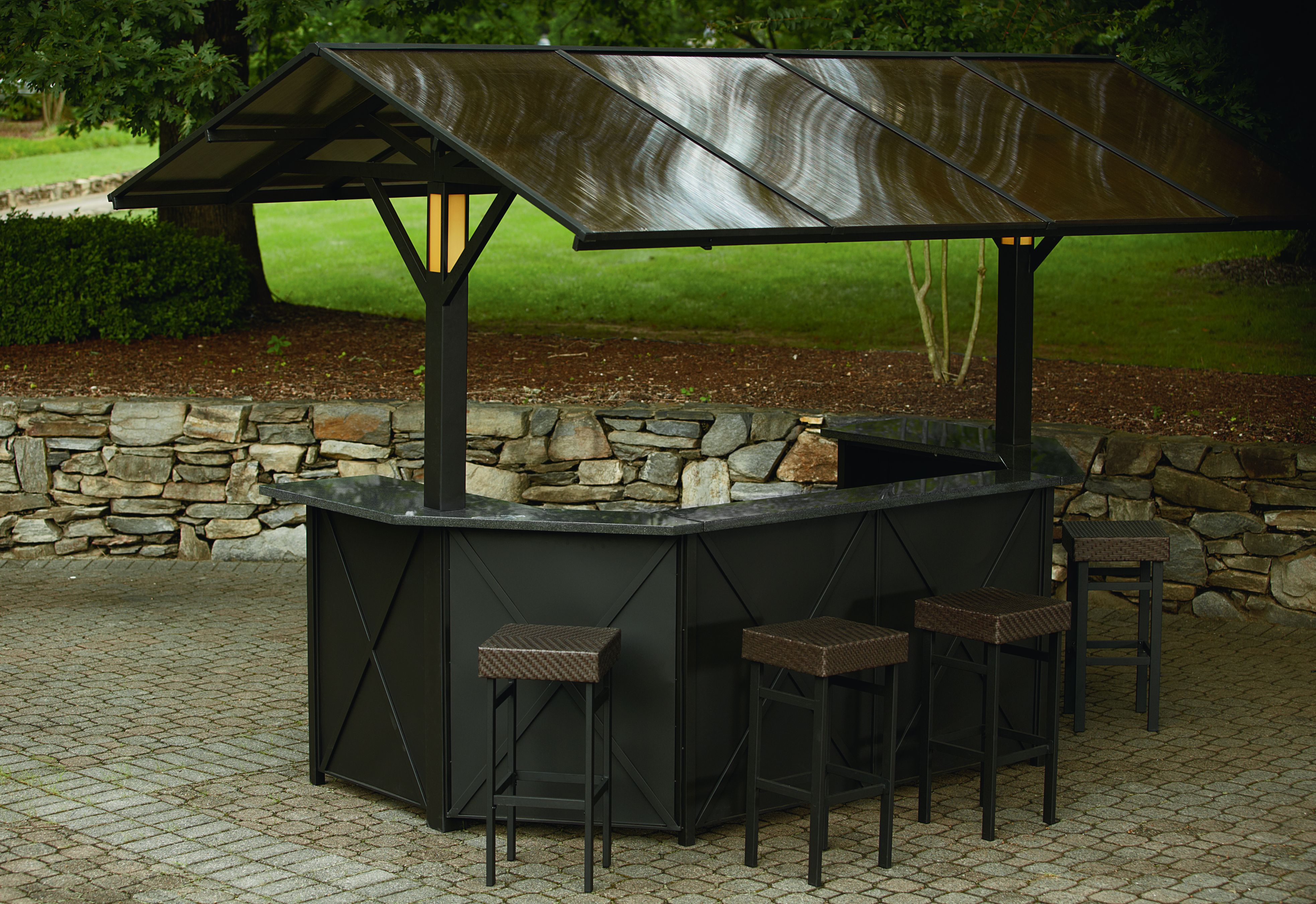 Ty Pennington Style Sunset Beach Deluxe Lighted Amp Music Hardtop Bar With 4 Stools Limited