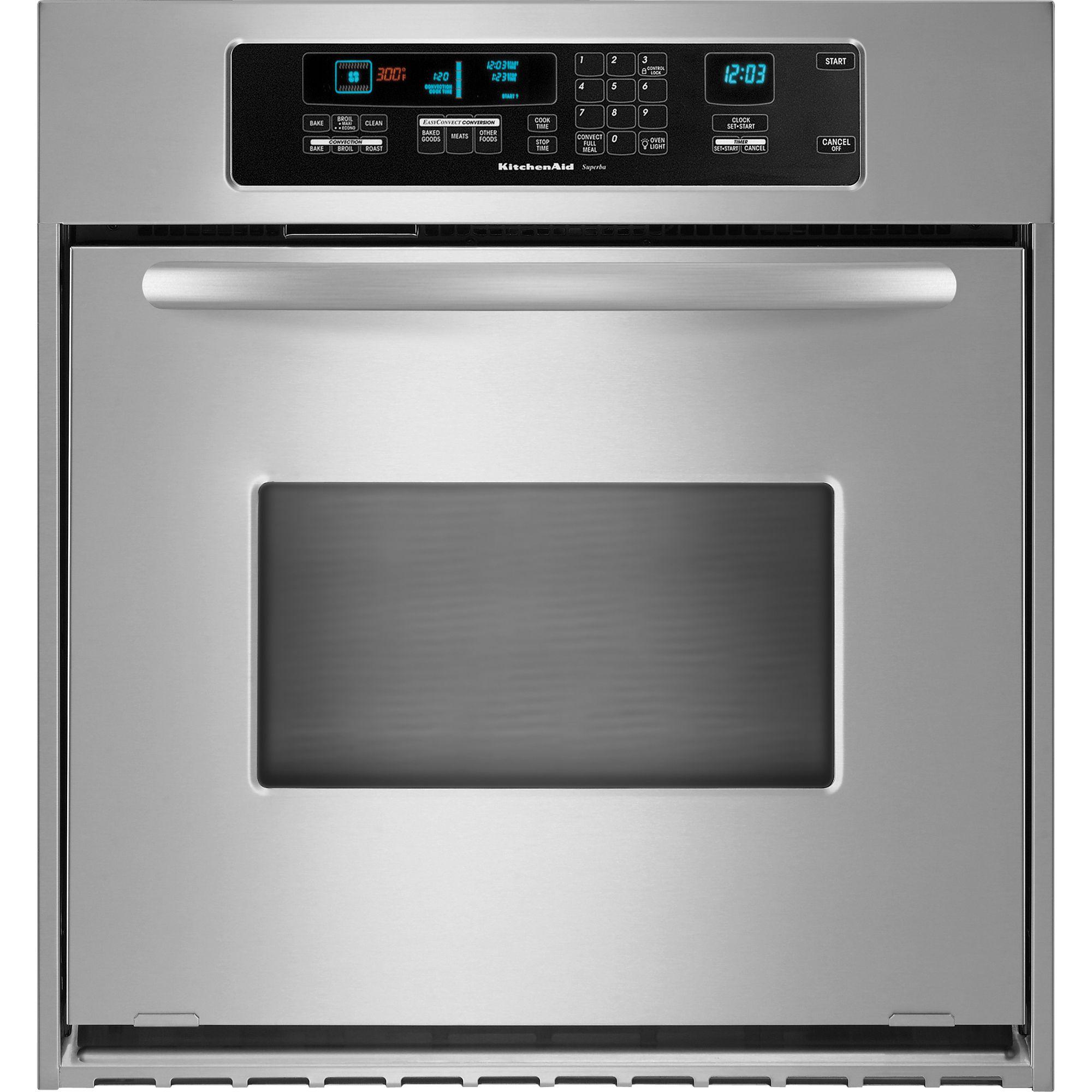 KitchenAid KEBC147VSS Architect 24 Single Wall Oven W