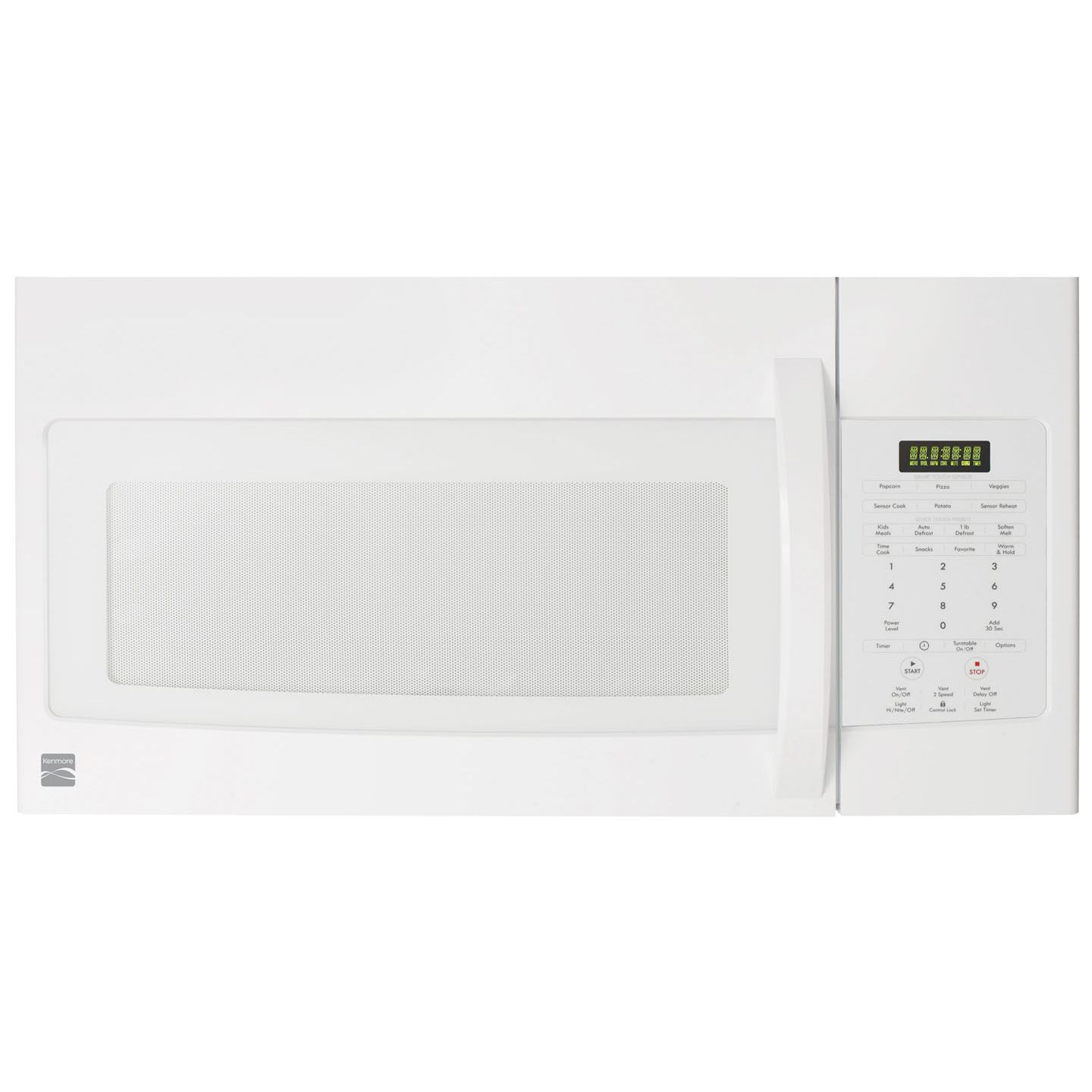 kenmore 85042 1 7 cu ft over the range microwave oven white