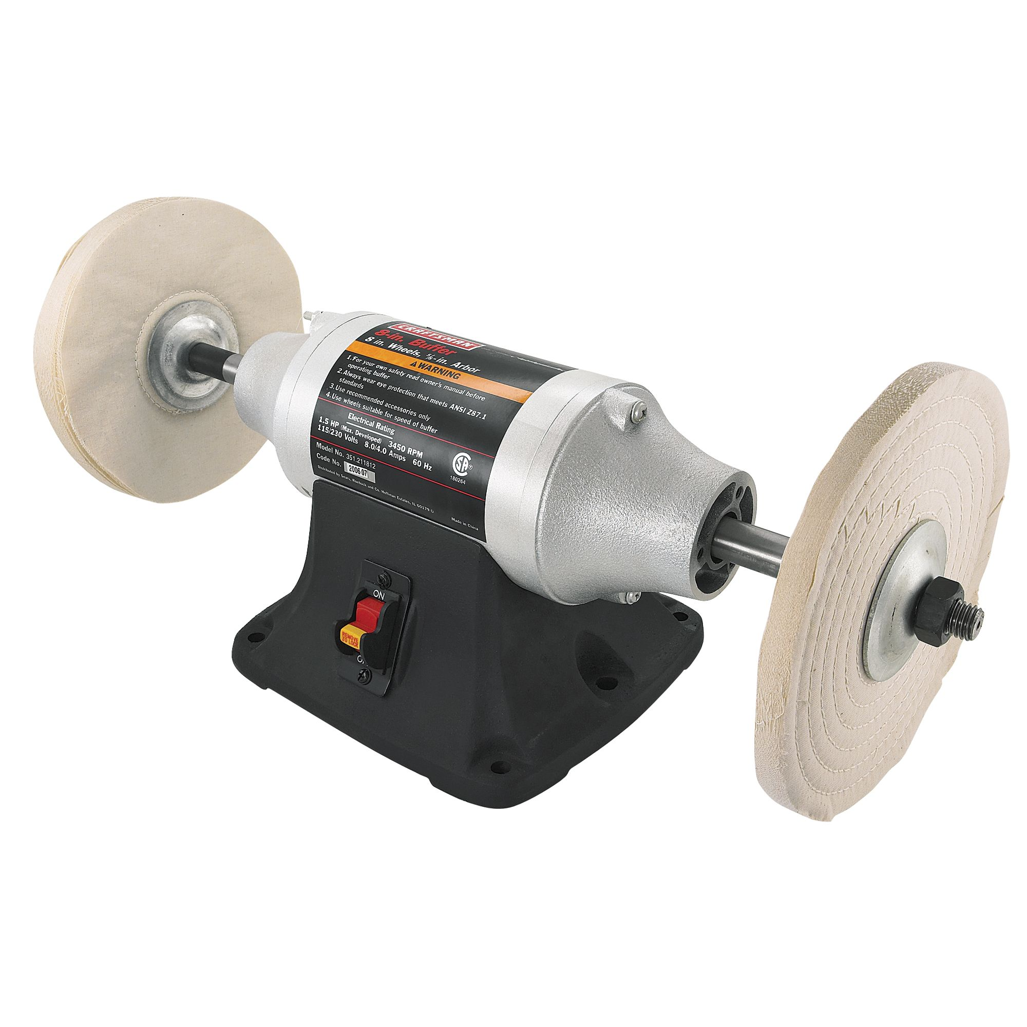 Craftsman 8 Quot Bench Buffer 21181 Shop Your Way Online
