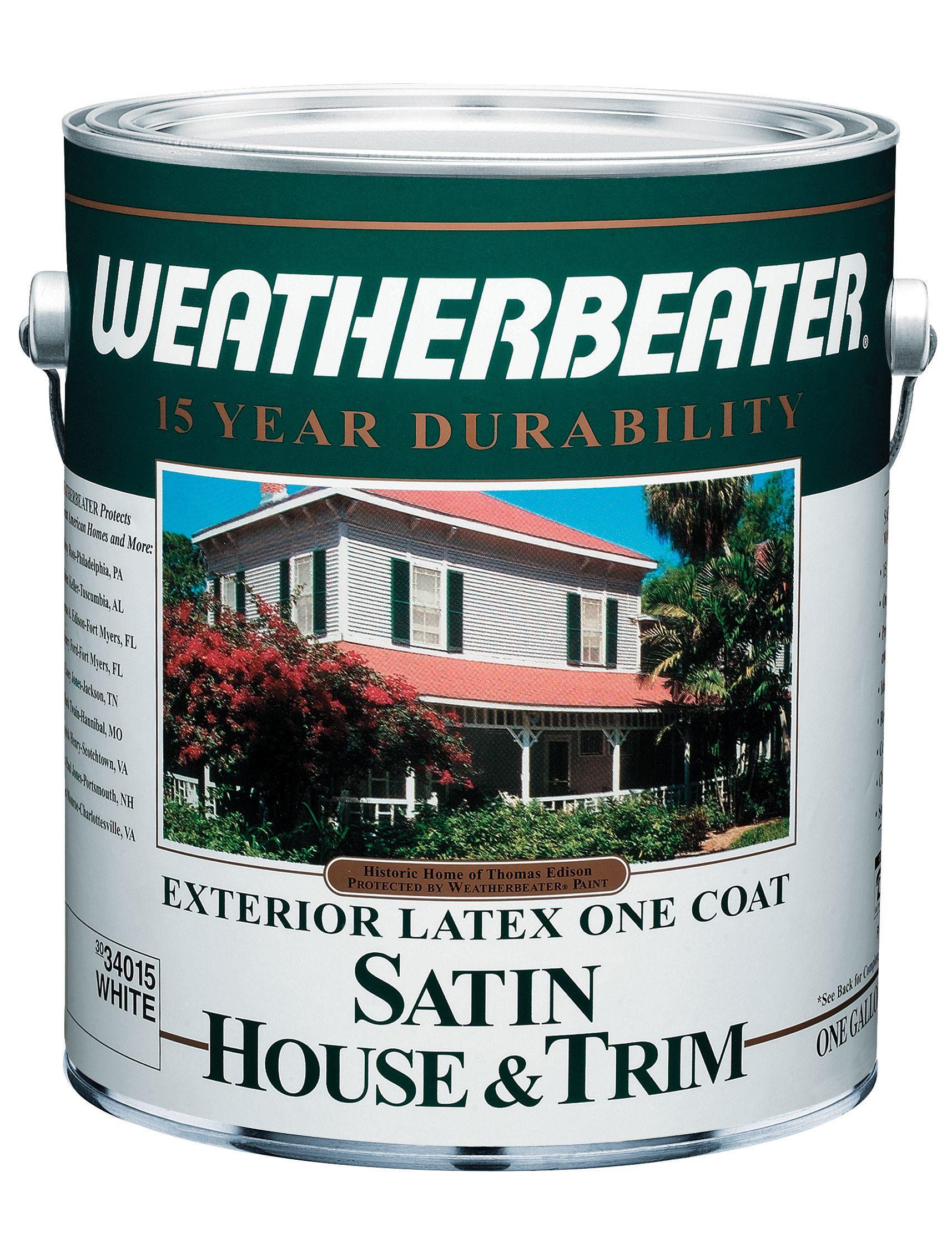 Weatherbeater 15 Year Latex Exterior Satin Paint 1 Gal