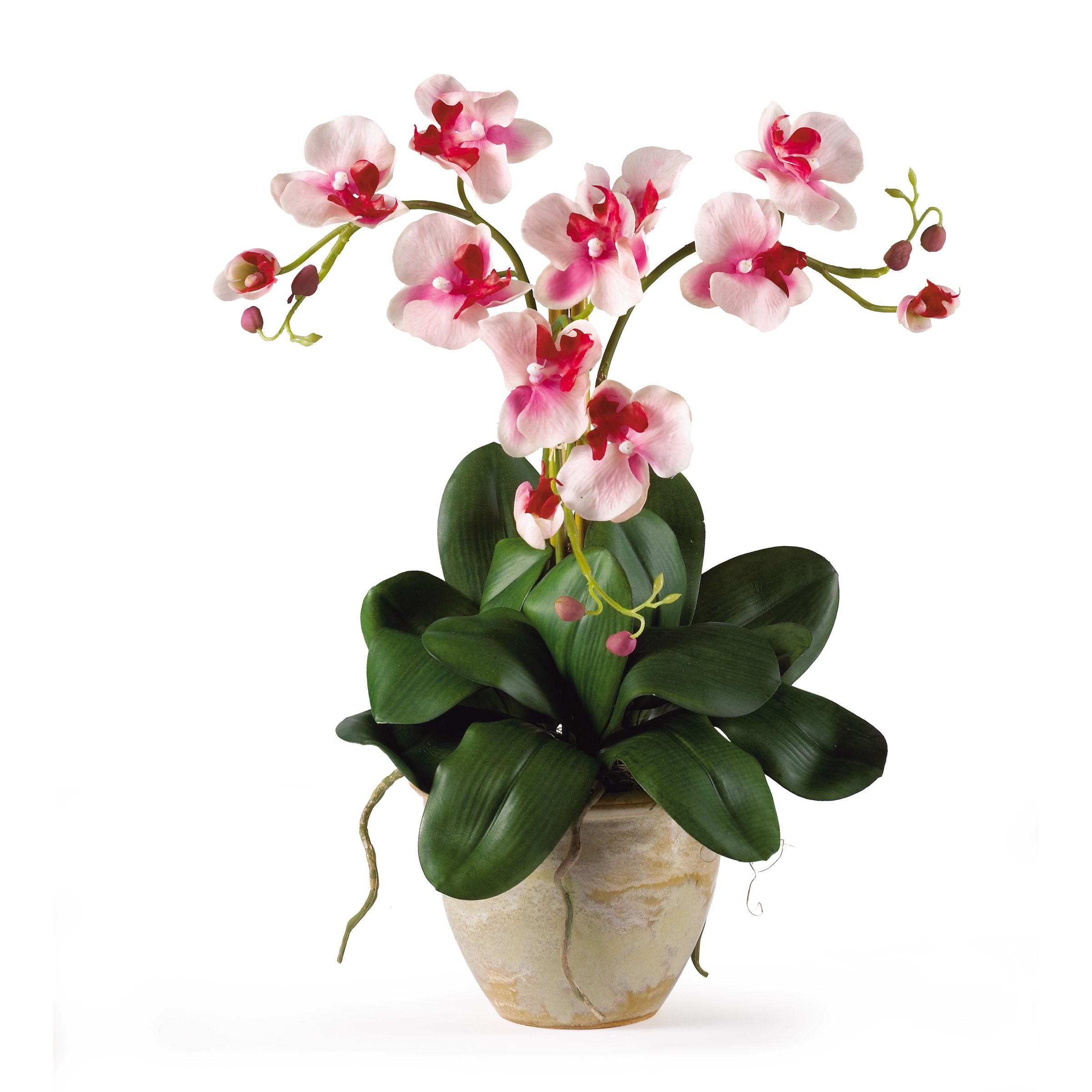 Nearly Natural Triple Mini Phalenopsis Silk Orchid Flower