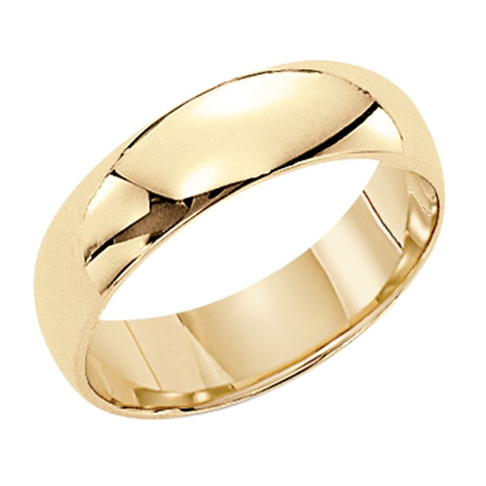 Orange Blossom Mens 14kt Gold 4mm Wedding Band Jewelry