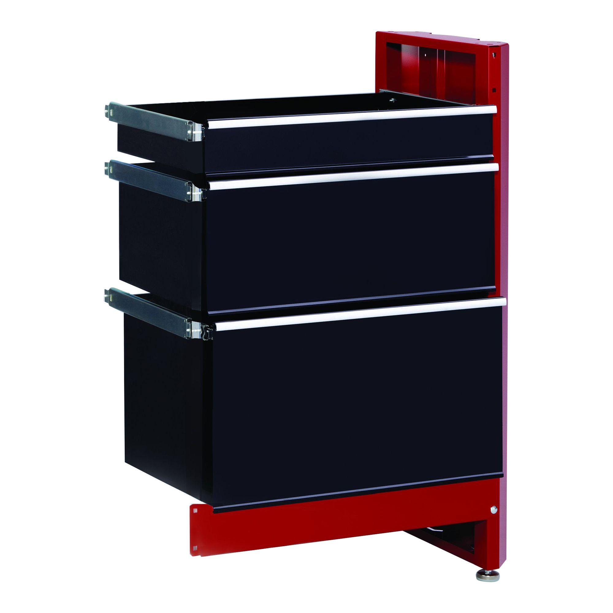 Craftsman 3 Drawer Workbench Module Red Black