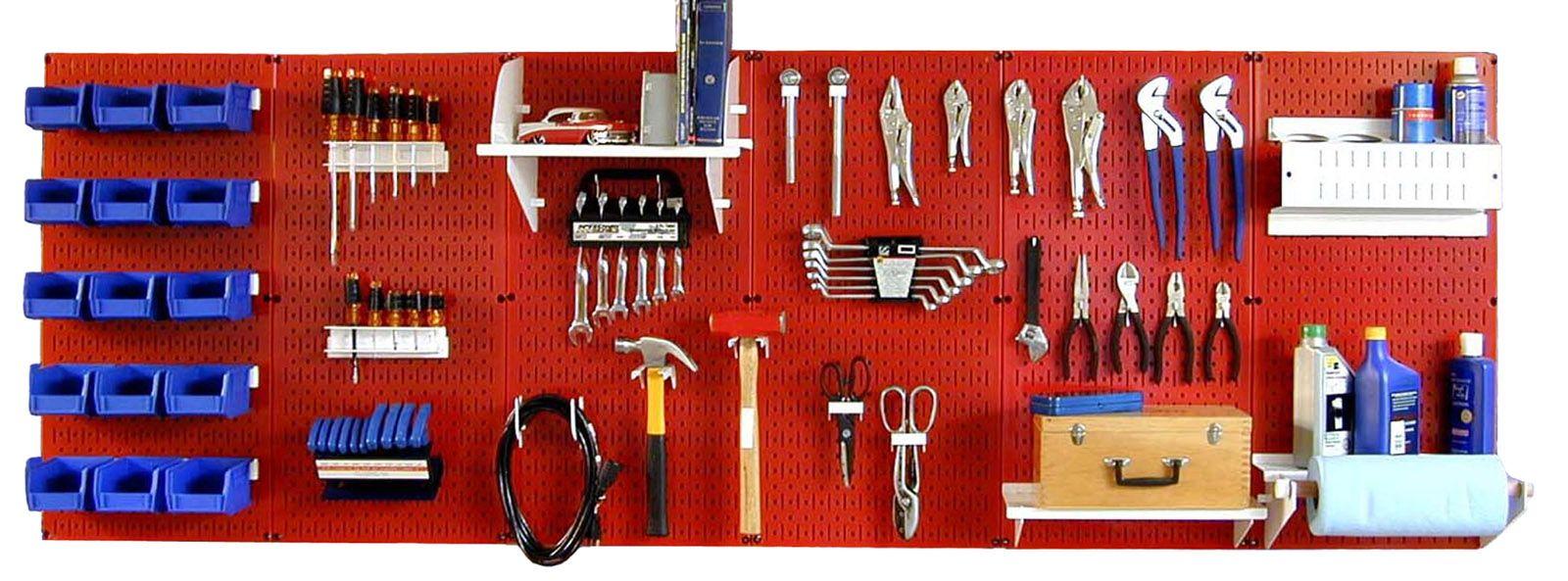 Wall Control Master Workbench Metal Pegboard Tool
