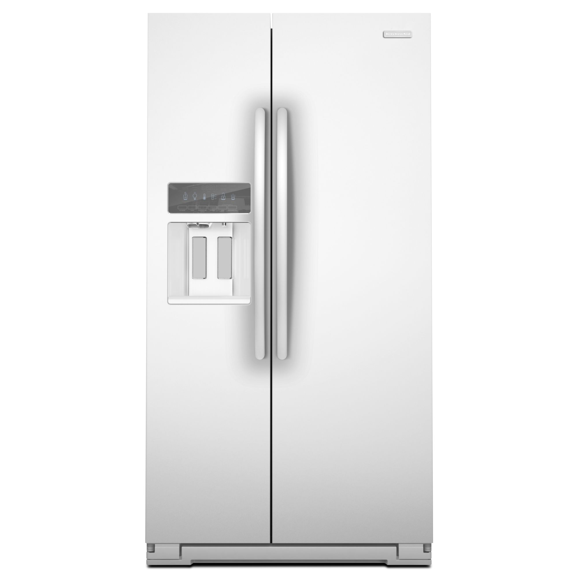 KitchenAid KSC24C8EYW 239 Cu Ft Counter Depth Side By Side Refrigerator White