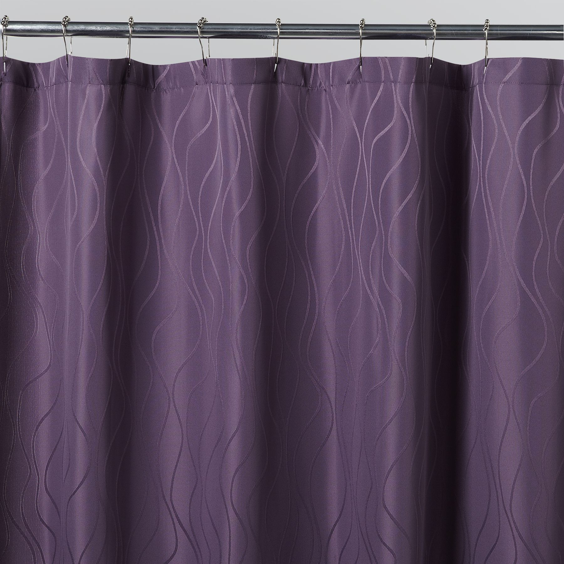 Essential Home Vintage Violet Fabric Shower Curtain