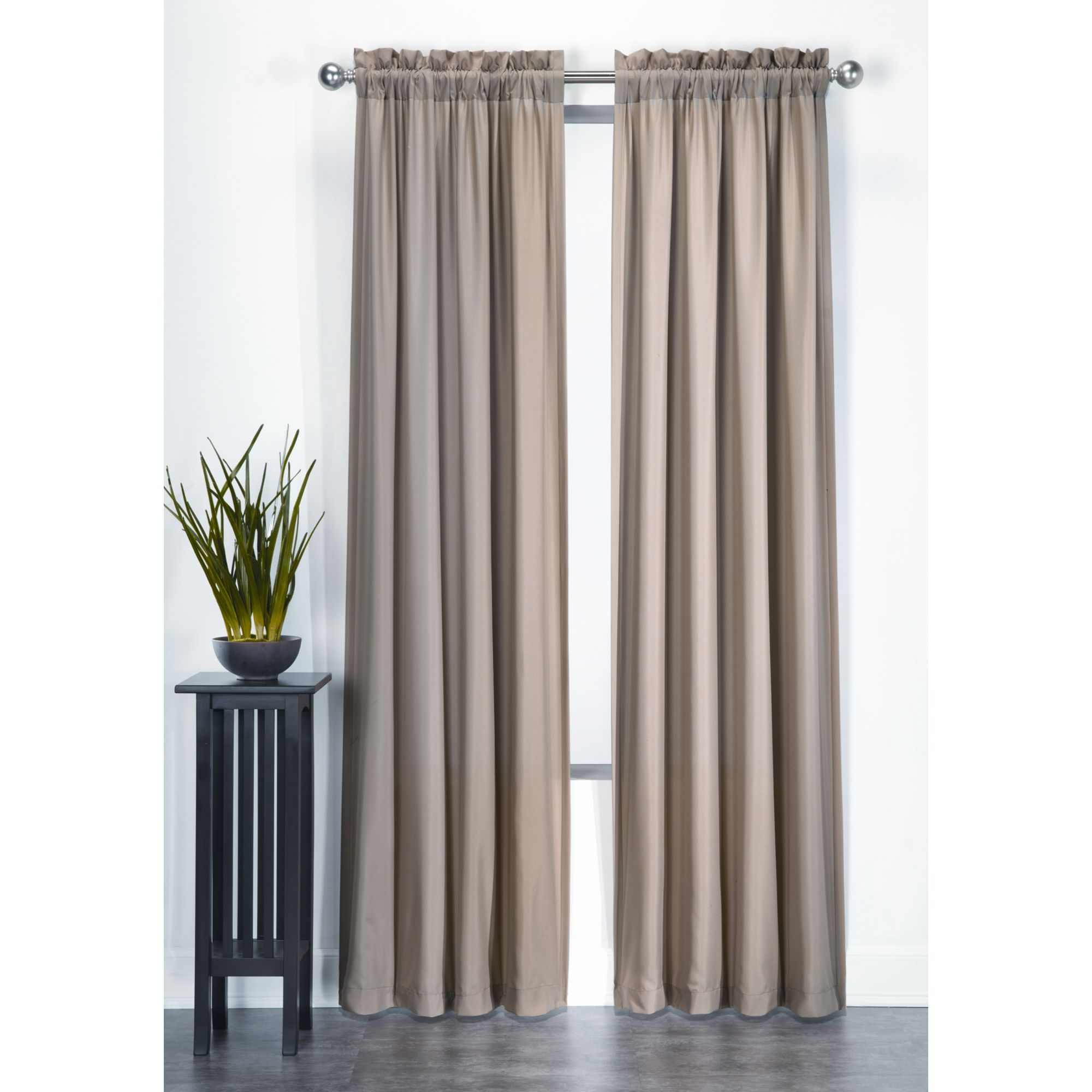 Essential Home Microfiber Panel Taupe Home Home Decor Window Treatments Amp Hardware