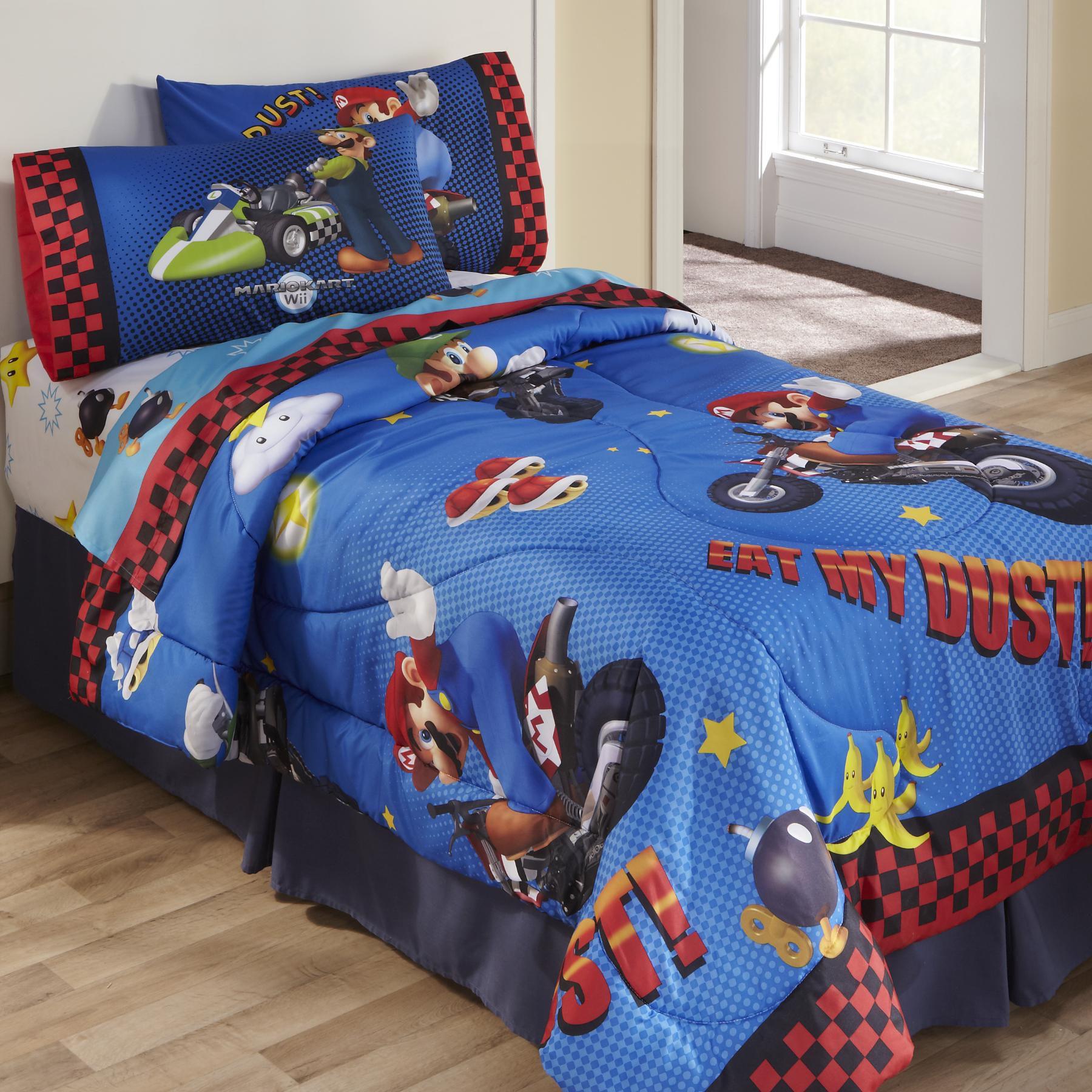 Licensed Kids Super Mario Twin Full Comforter