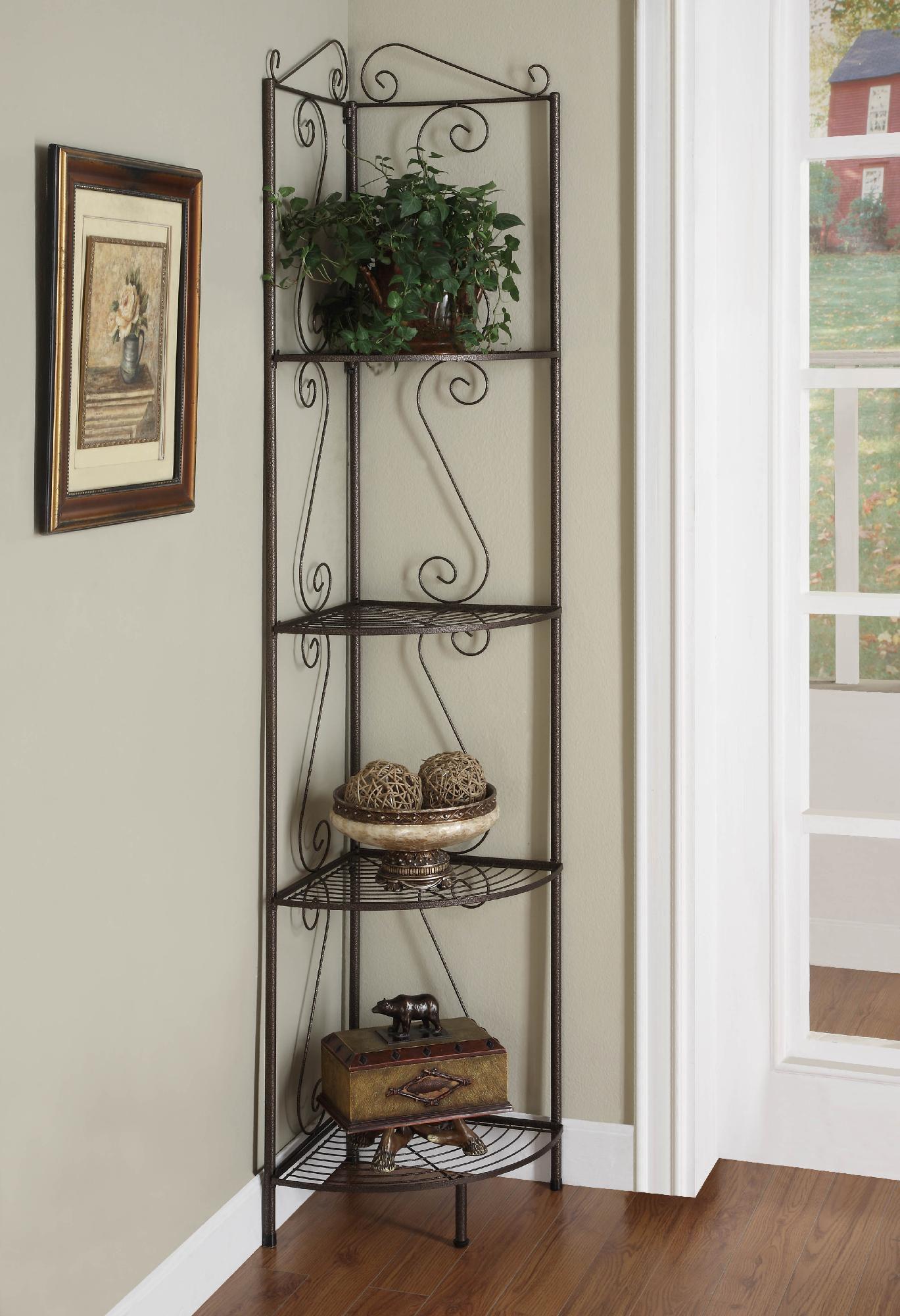 Monarch Specialties Bookcase 70 H Copper Metal Corner