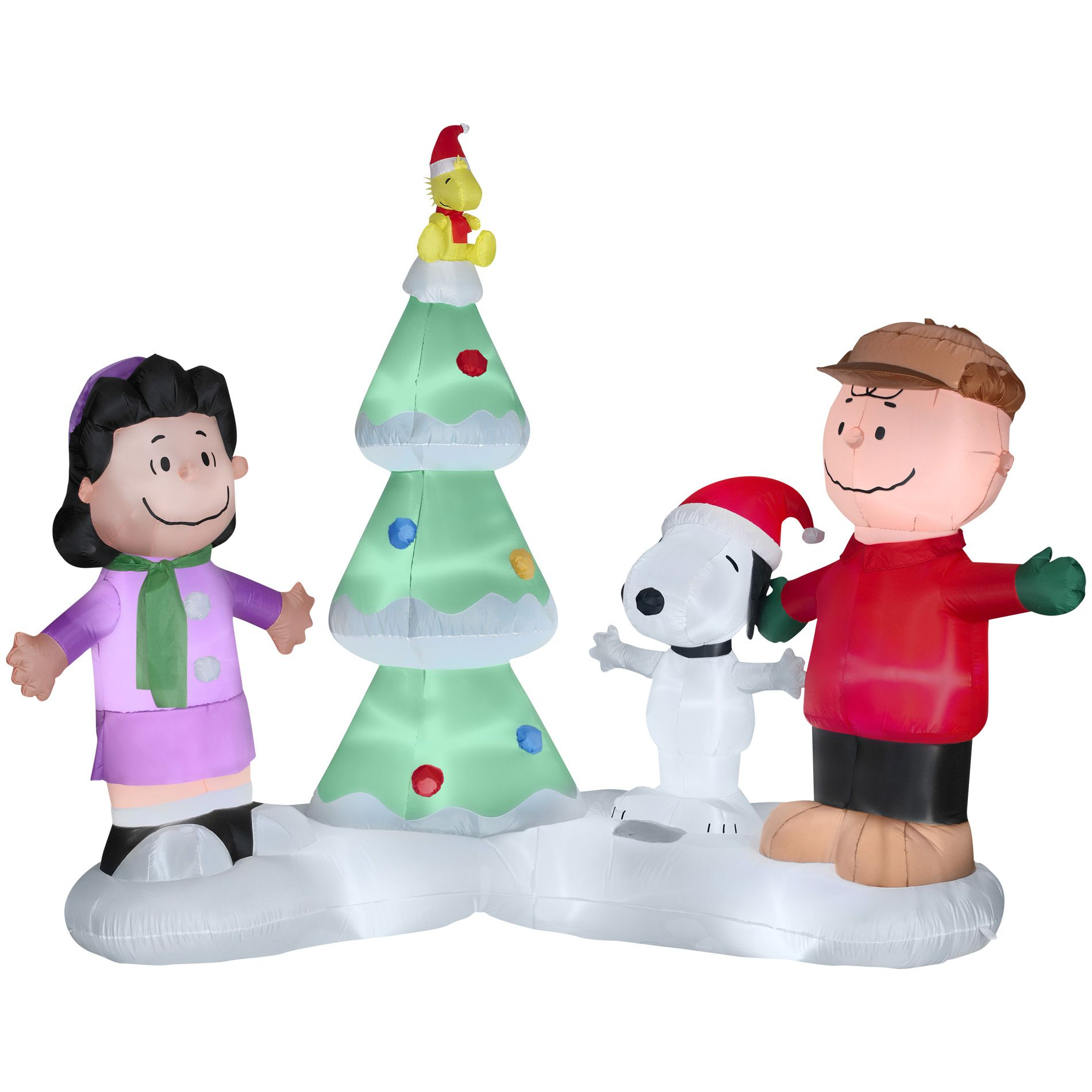Peanuts By Schulz 65ft Lighted Musical Christmas Airblown