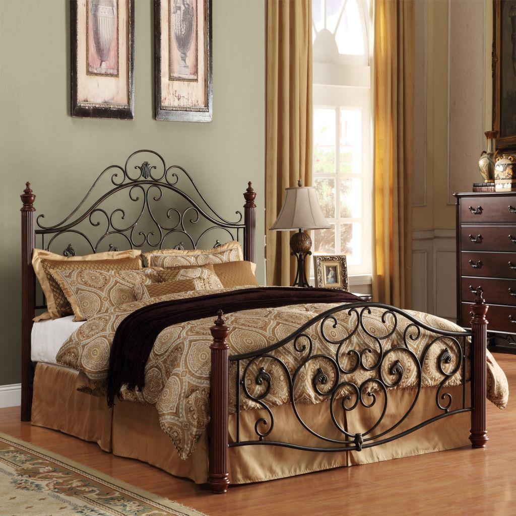 Oxford Creek Elegant Queen Size Metal Bed Home
