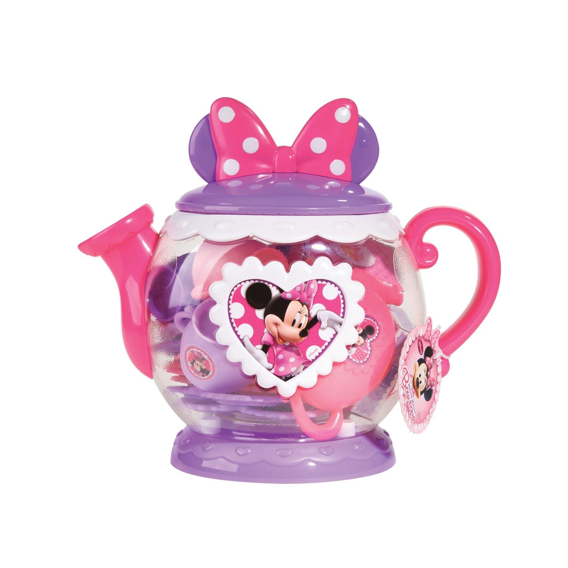 Disney Teapot Play Set Minnie Mouse Bow Tique Lavender