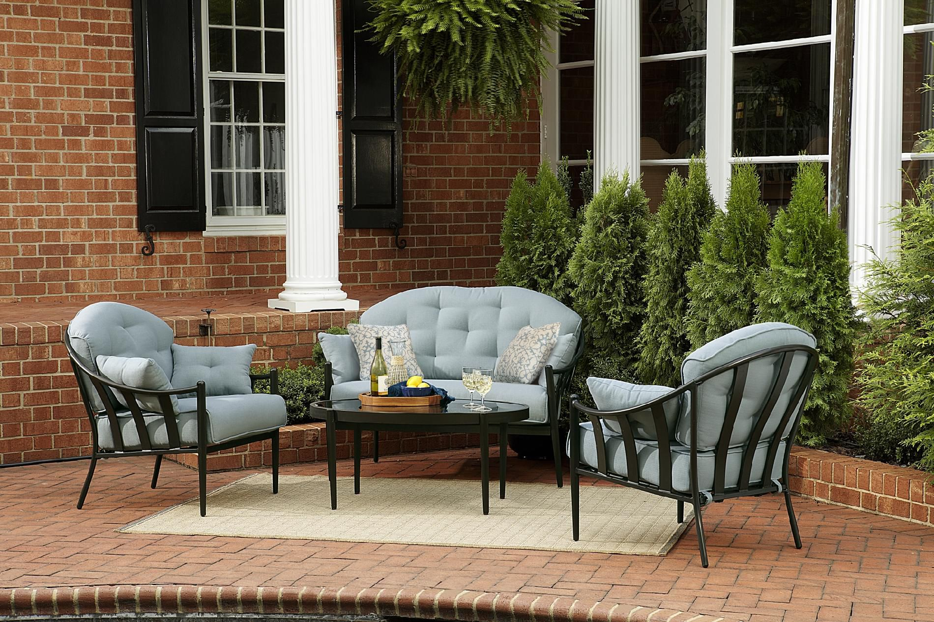 Chandler 4pc Outdoor Seating Set: Get Your Sumptuous