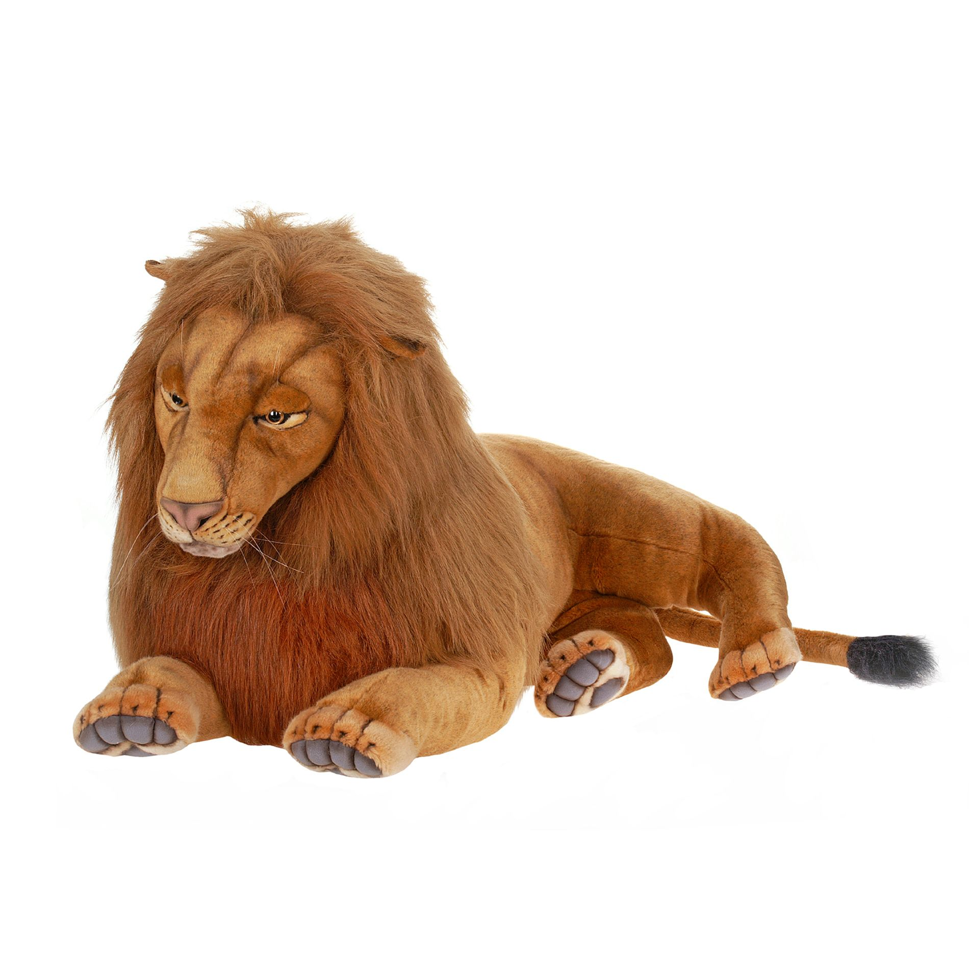 Hansa Creation 70 Inch Extra Large Laying Male Lion Stuffed Animal