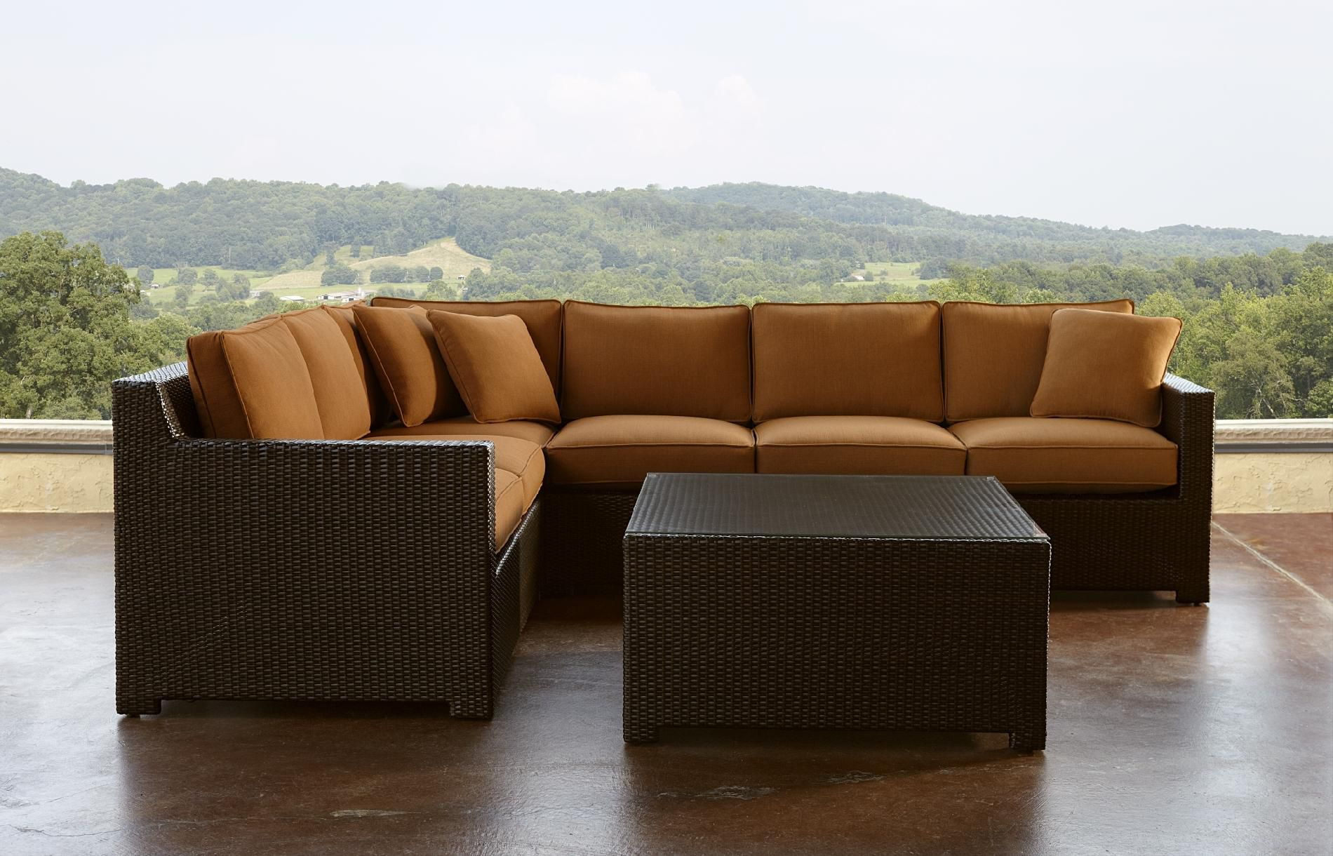 Review Agio Monaco Red 5pc Sectional Seating Set