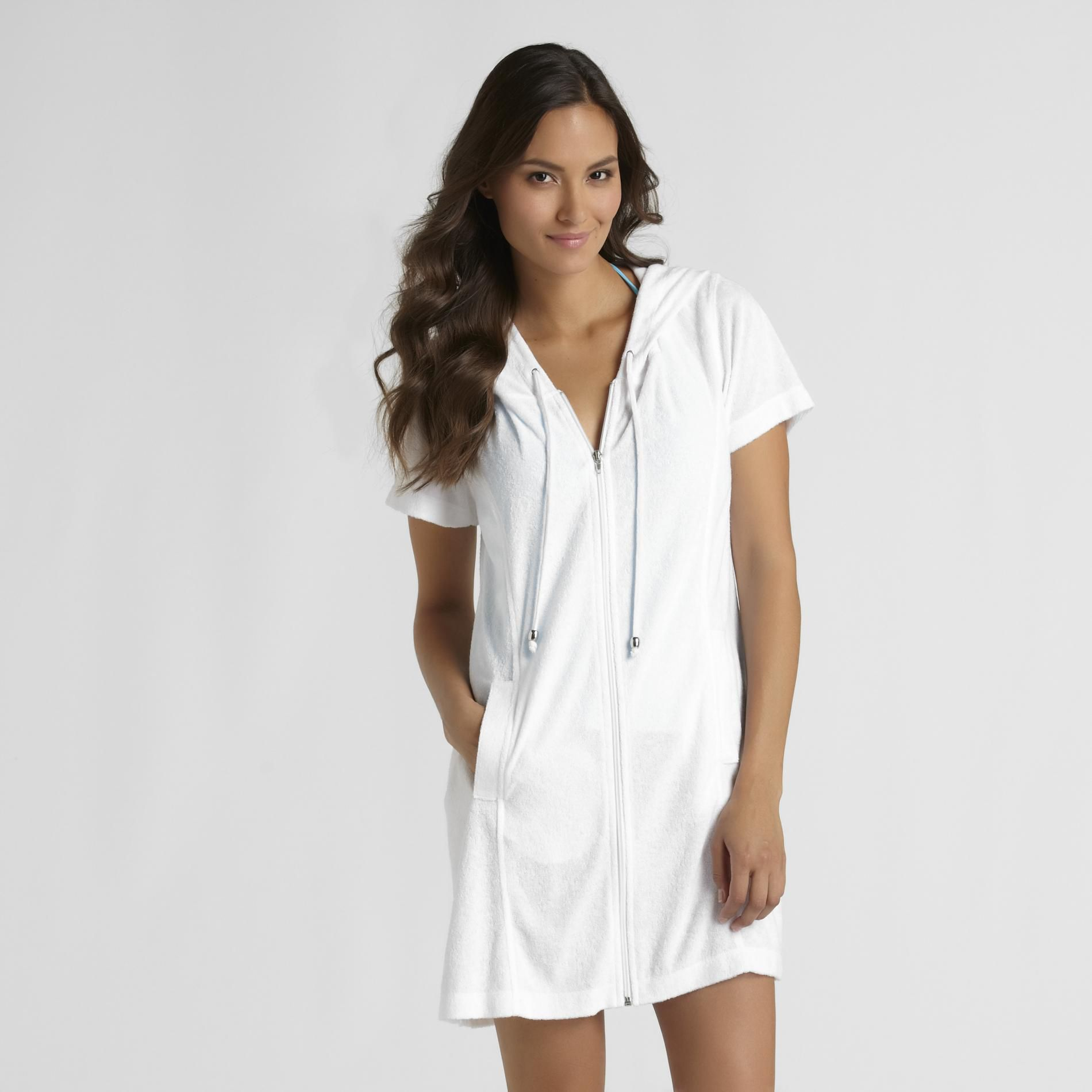 Jaclyn Smith Womens Terry Cloth Swimsuit Cover Up