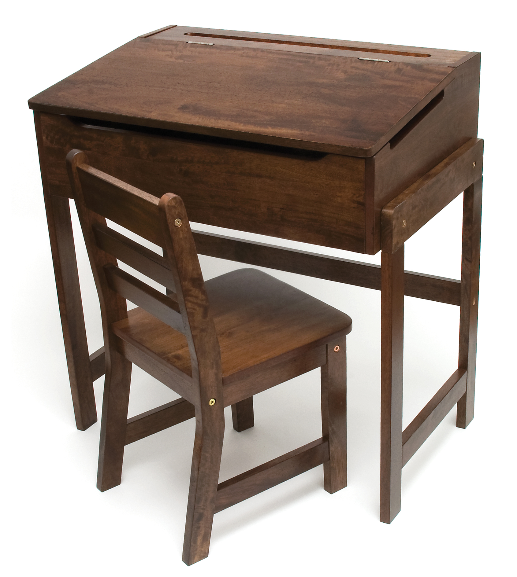 Low Cost Child S Slanted Top Desk Chair Walnut