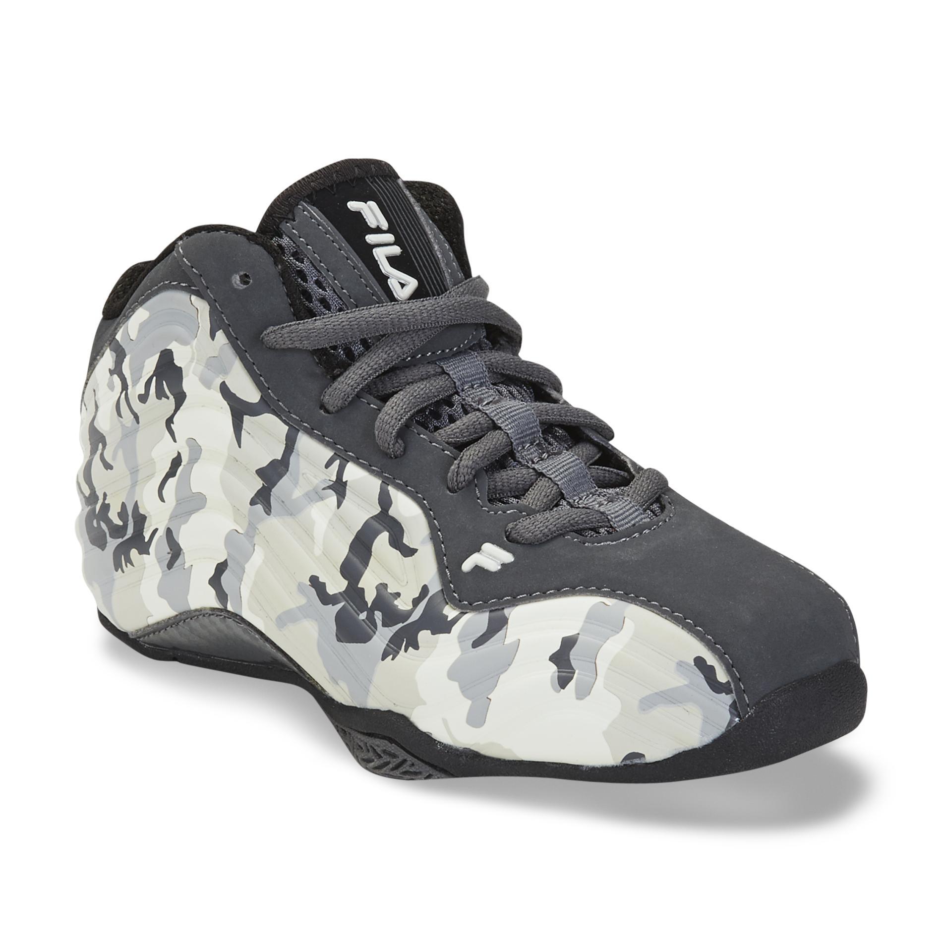 Fila Boys Vindicator GreyCamouflage High Top Basketball