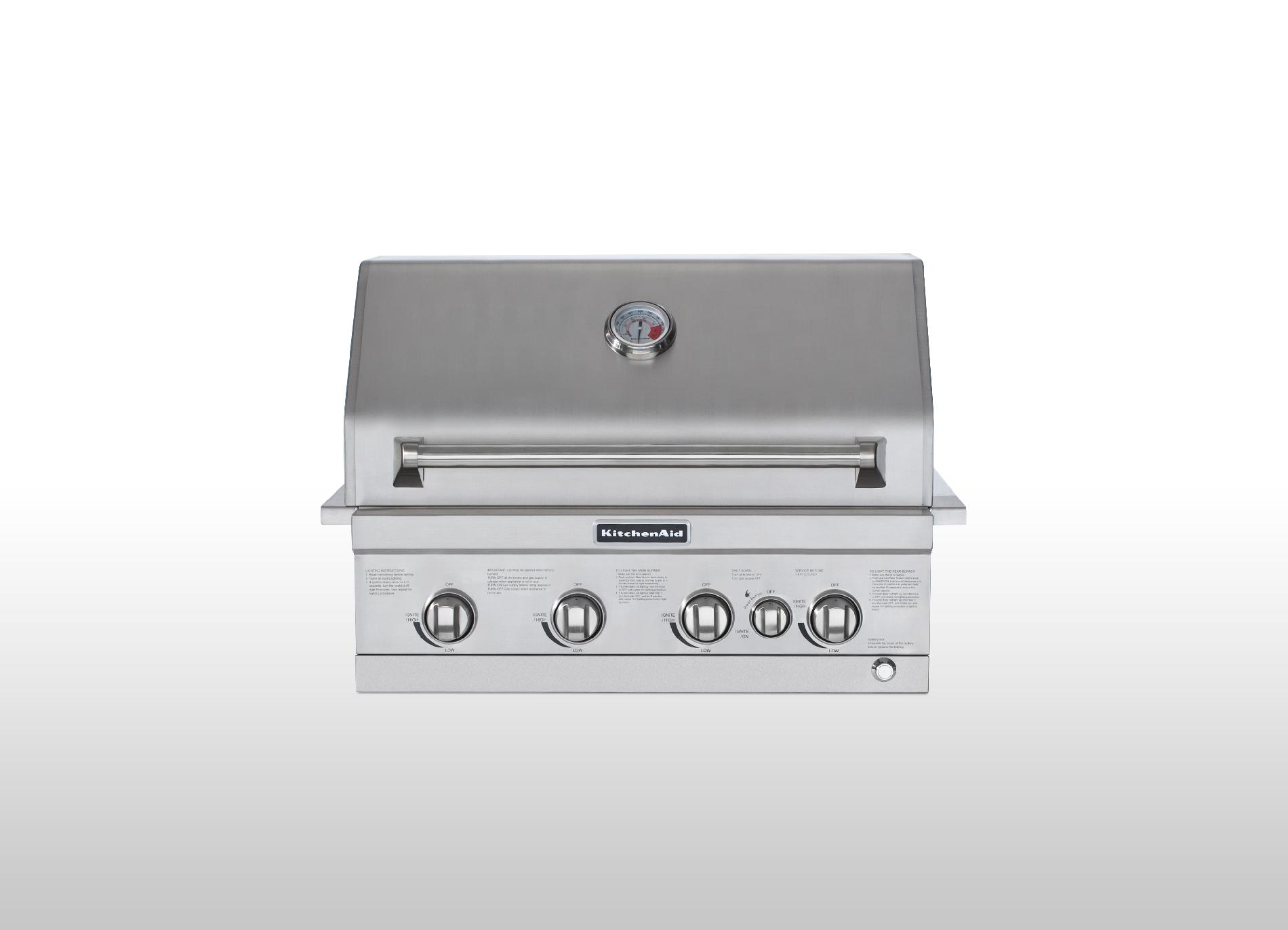 KitchenAid 30 4 Burner Built In Gas Grill With Rotisserie
