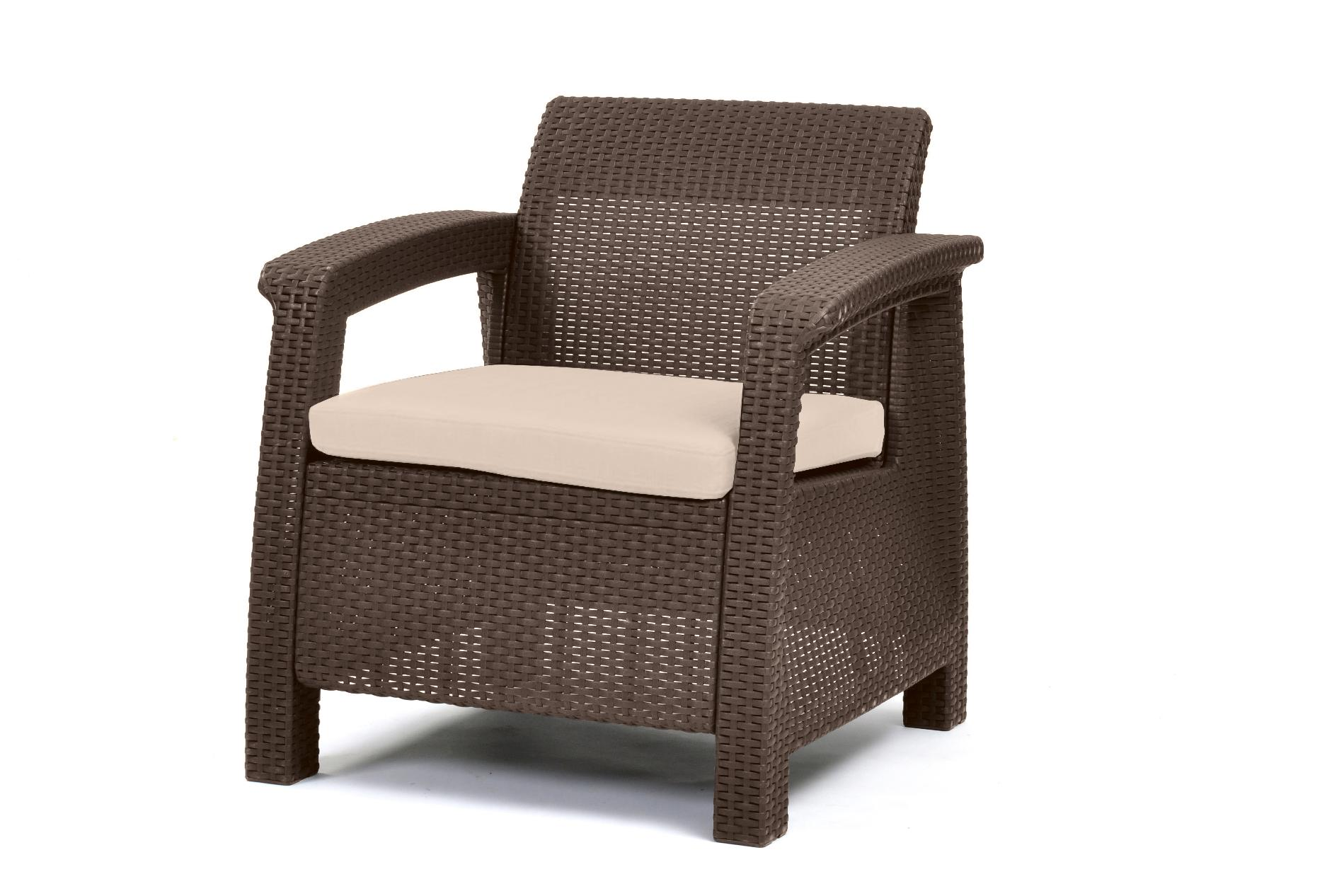 Keter Corfu Armchair All Weather Outdoor Patio Furniture