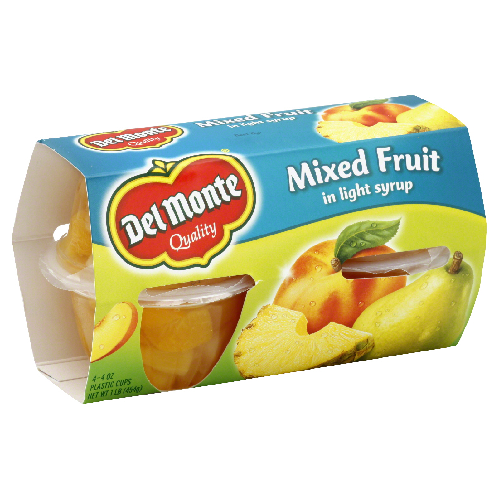 Del Monte Mixed Fruit In Light Syrup 4 4 Oz Cups 1 Lb