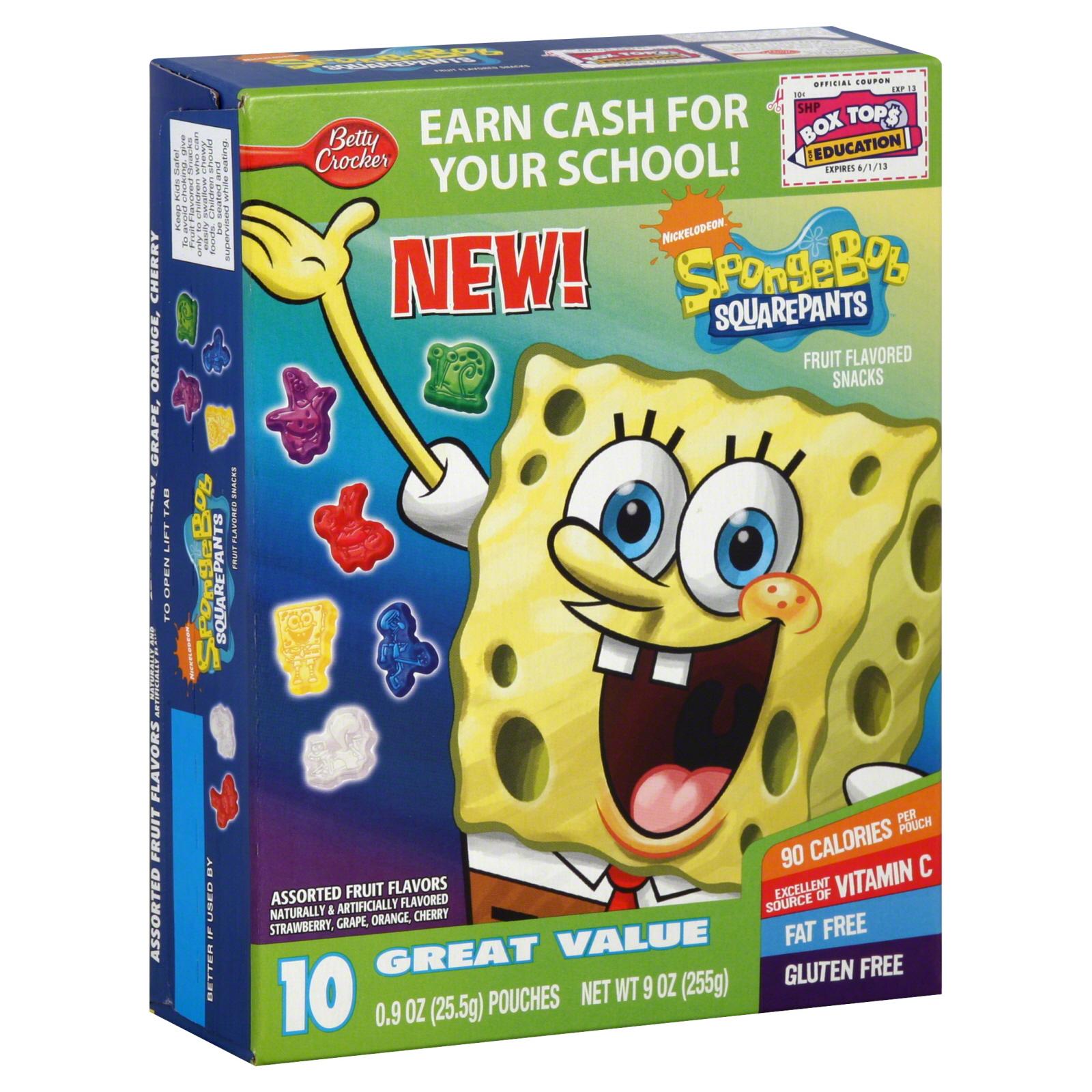 Betty Crocker Fruit Flavored Snacks Nickelodeon SpongeBob