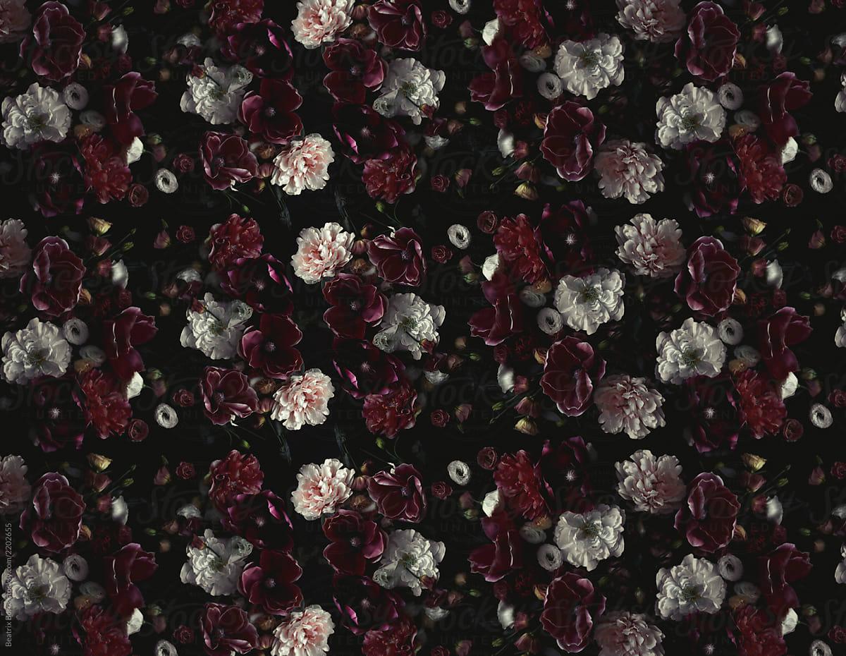 Vintage Floral Wallpaper By Beatrix Boros Floral Vintage Stocksy United