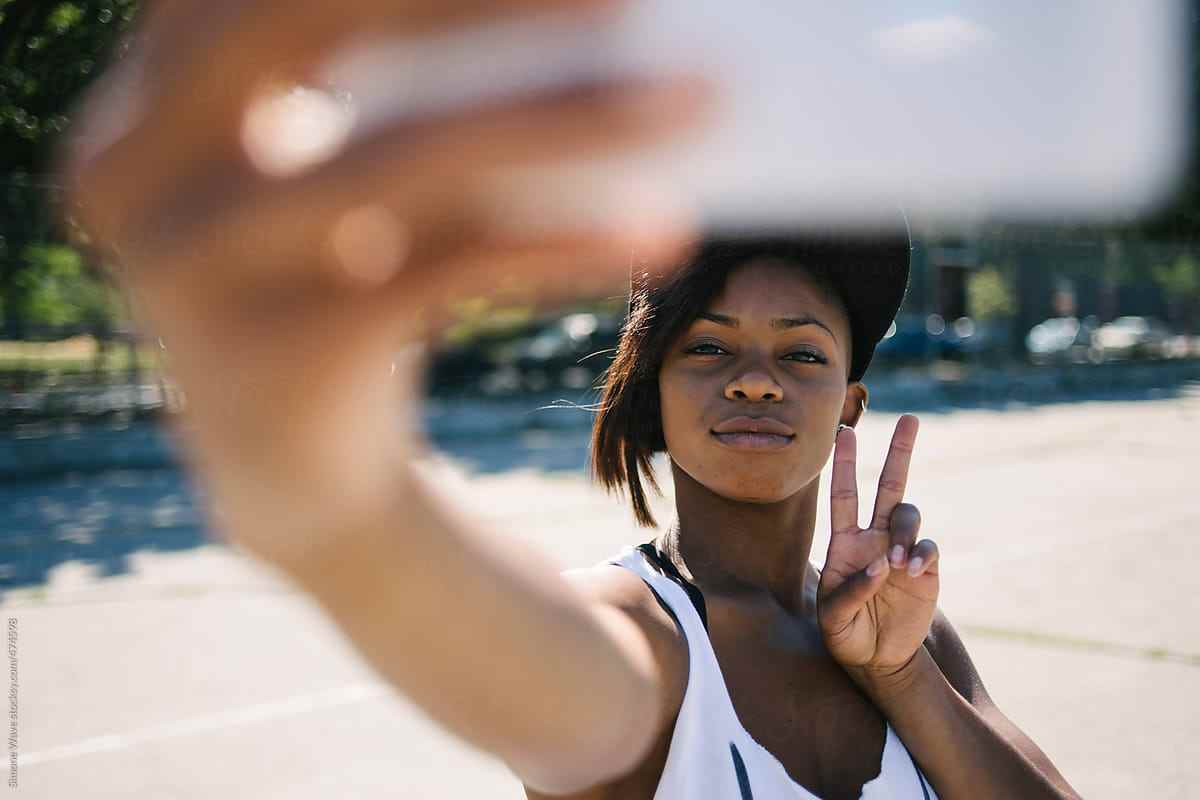 Image result for young black women taking selfies