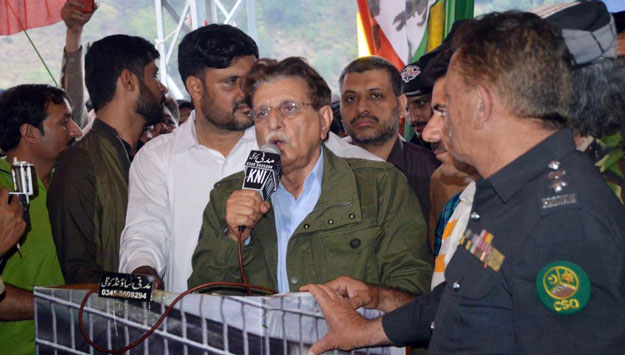 AJK PM Raja Farooq Haider. PHOTO: ONLINE