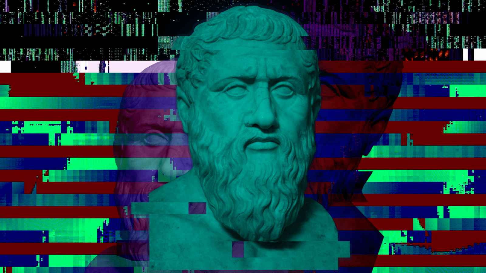 Wallpaper Greek Philosophers Plato Minimalism Glitch Art 1920x1080 Arsildo1 1225747